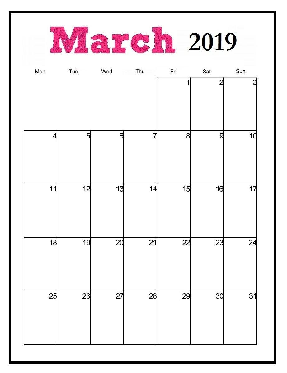 Printable March 2019 Vertical Calendar   Maxcalendars   Pinterest Calendar 2019 Vertical