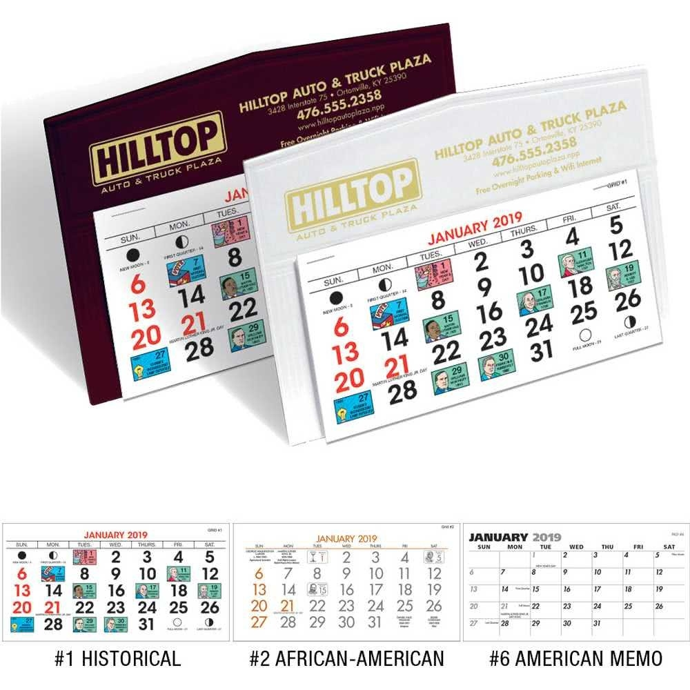 Promotional 2020 Legacy Desk Calendars With Custom Logo For $0.68 Ea. Calendar 2019 Custom