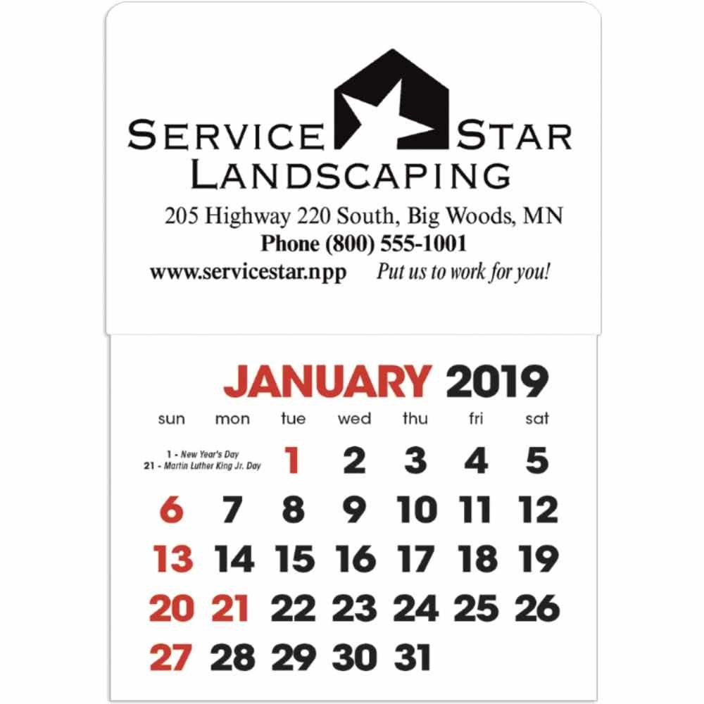 Promotional 2020 Stick Up Calendar Shapes With Custom Logo For Calendar 2019 Magnet