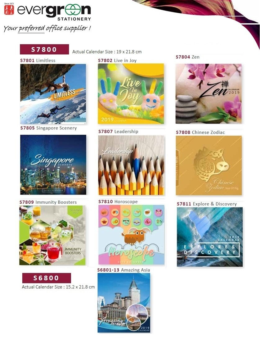 Qoo10 – 2019 Table Calendar S7801/s6801 Collections. Mix Match Any 2 Calendar 2019 Qoo10