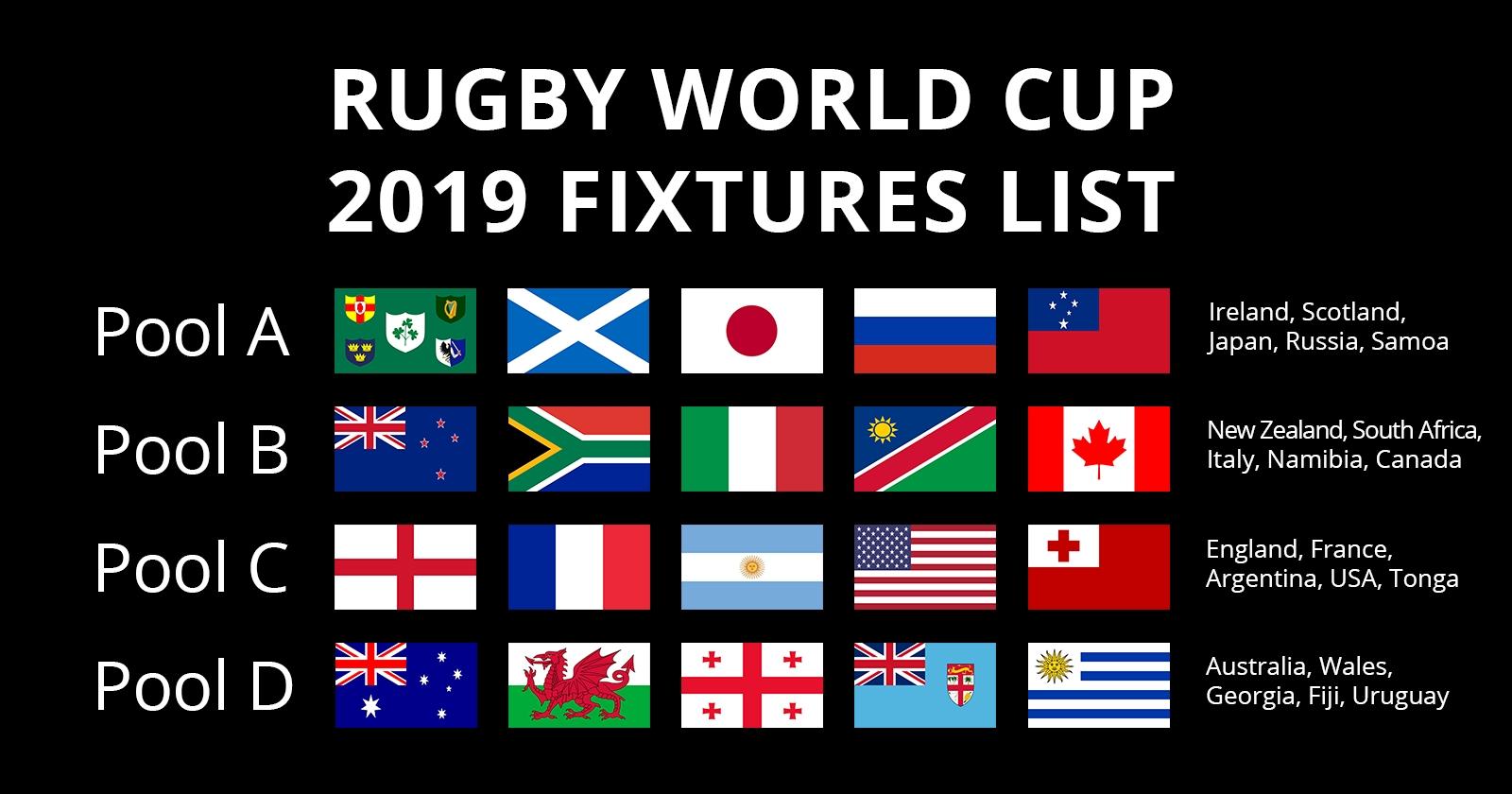 Rugby World Cup 2019 Fixtures   Autumn Internationals 6 Nations Calendar 2019