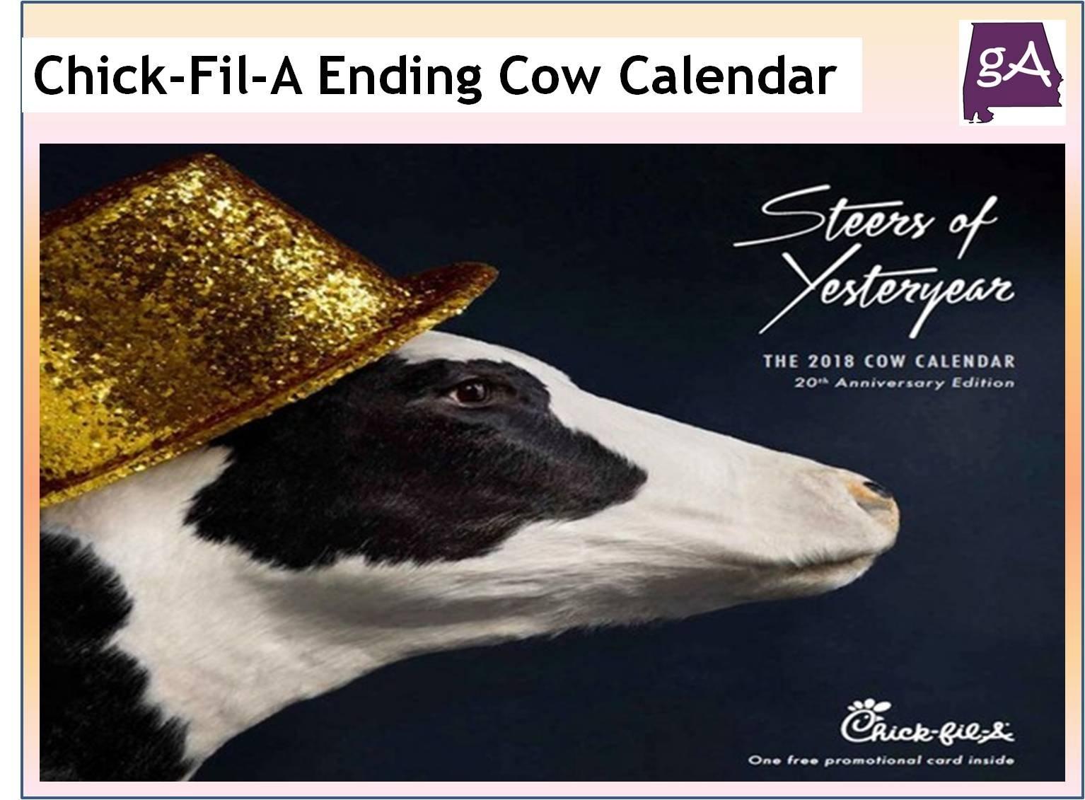 Say Goodbye To The Chick-Fil-A Cow Calendars – Geek Alabama Chick Fil A Calendar 2019
