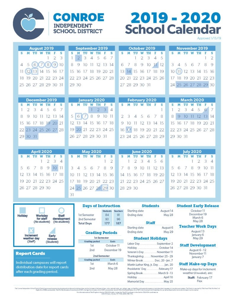 School Calendar Process – Conroe Isd Texas A&m Calendar 2019
