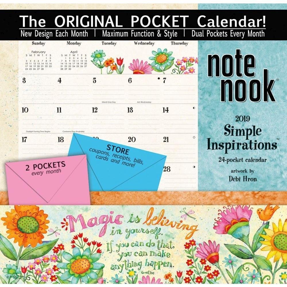 Simple Inspirations 2019 Pocket Wall Calendar Calendars Books Calendar 2019 With Pockets