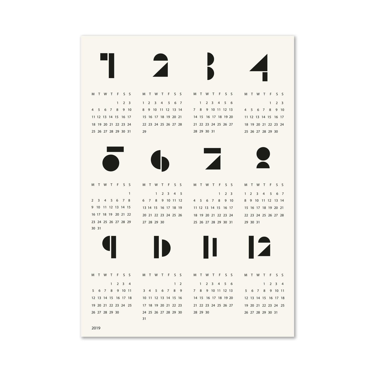 Snug Poster Calendar Toyblocks   Connox Calendar 2019 Neu