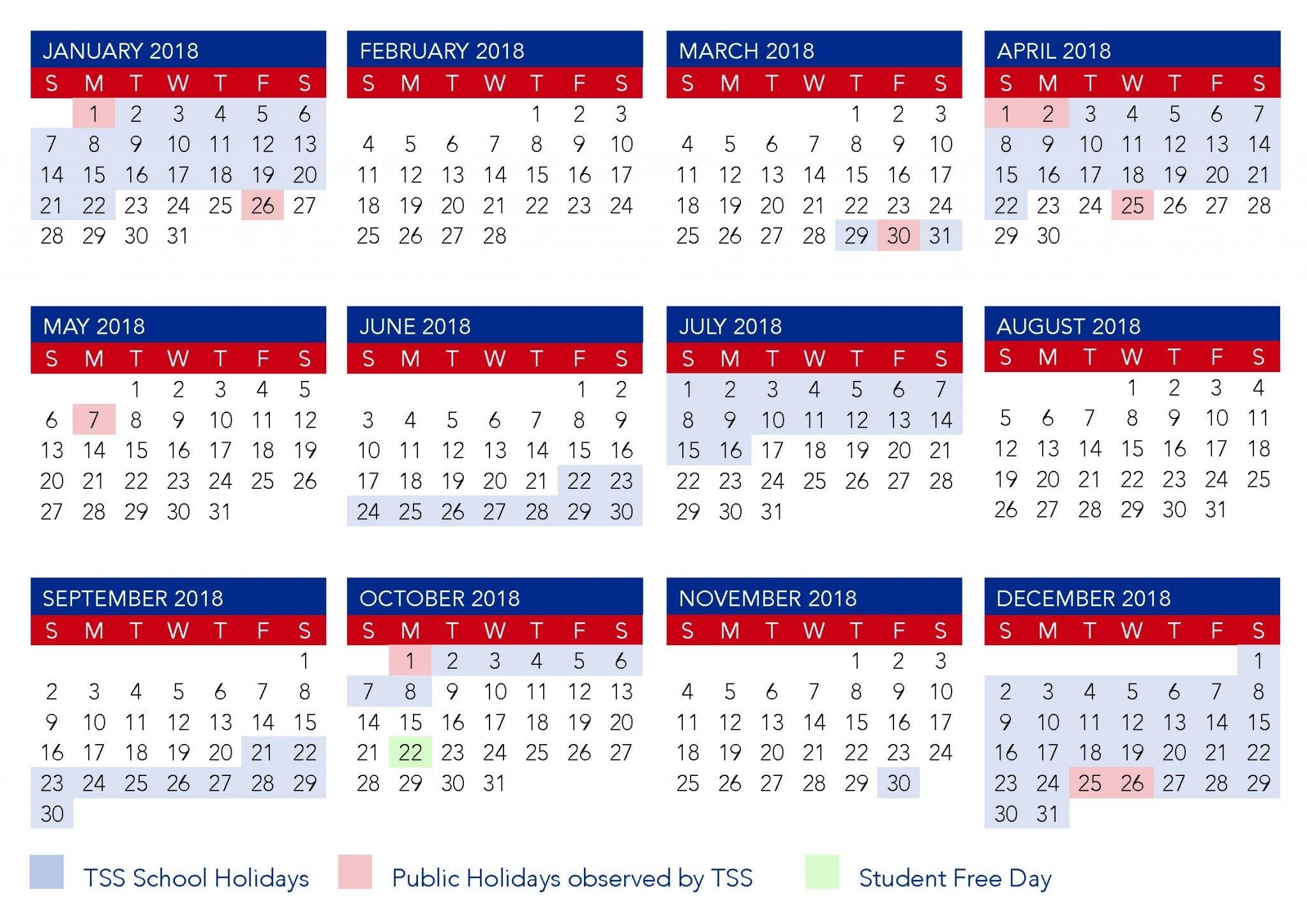 Term Calendar Dates | The Southport School Calendar 2019 Qld