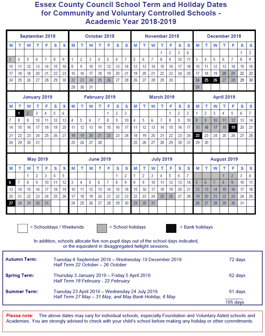 Term Dates « Sheering School – Everyone Matters 3 Term Calendar 2019