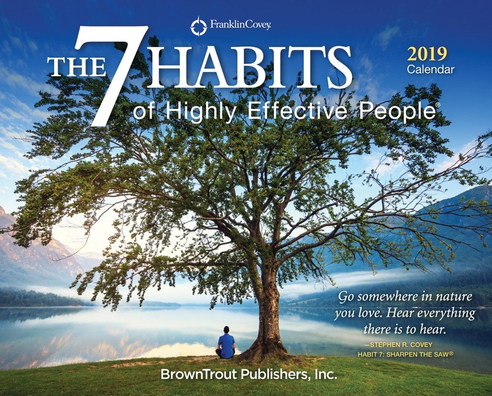 The 7 Habits Of Highly Effective People 2019 Page A Day Desktop Box 7 Habits Calendar 2019