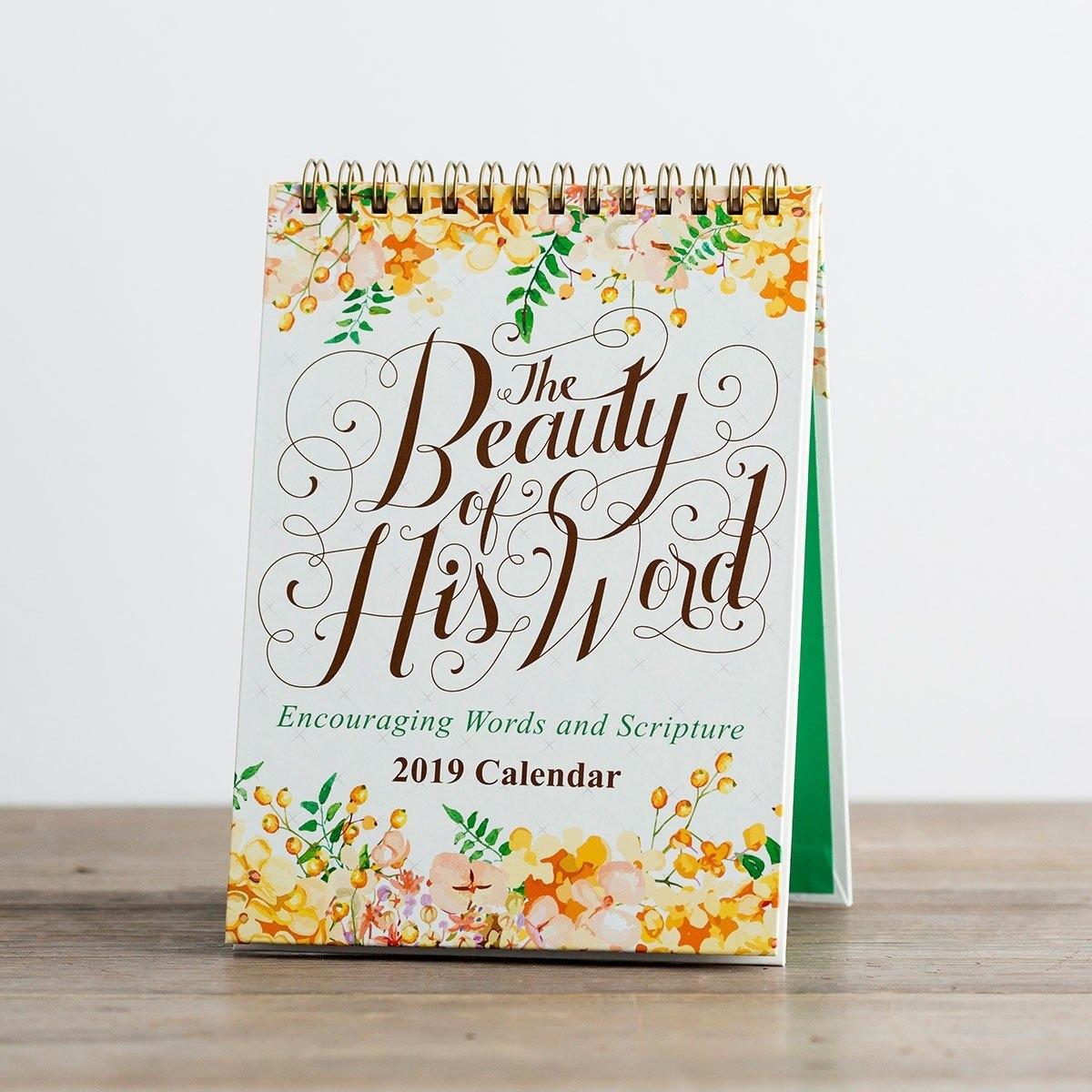 The Beauty Of His Word - 2019 Desktop Calendar | Dayspring Calendar 2019 Desktop