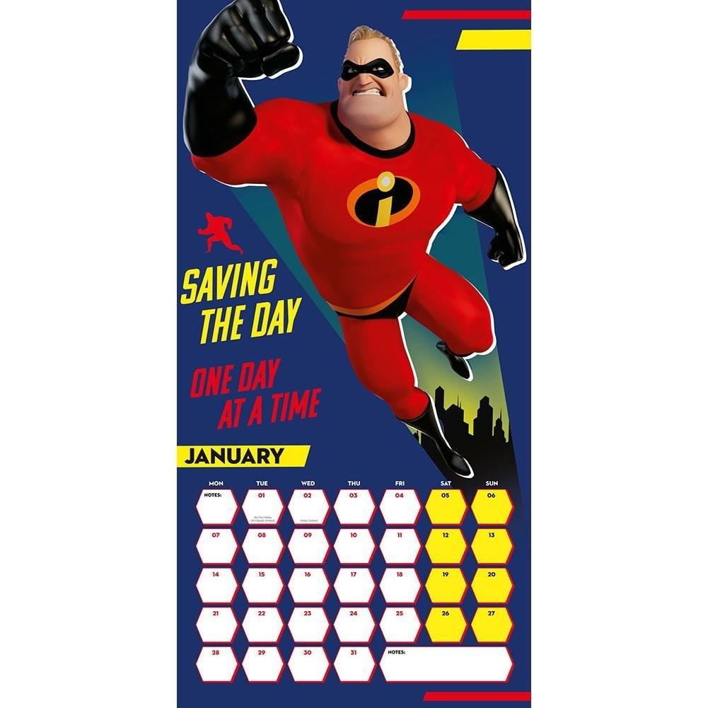 The Incredibles 2 Calendar 2019, The Little Warehouse Incredibles 2 Calendar 2019