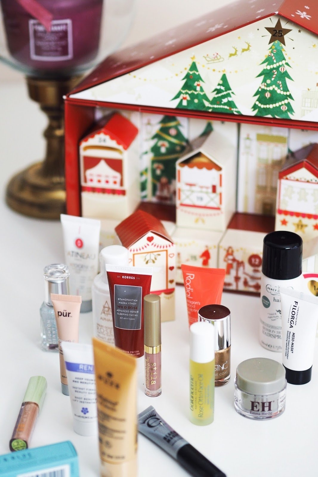 The M&s Beauty Advent Calendar And A Pretty Christmassy Evening M&s Beauty Advent Calendar 2019
