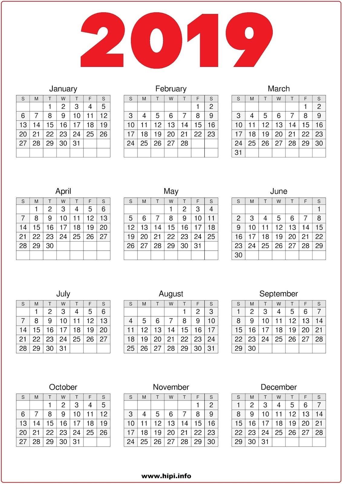 Twitter Headers / Facebook Covers / Wallpapers / Calendars: 2019 007 Calendar 2019