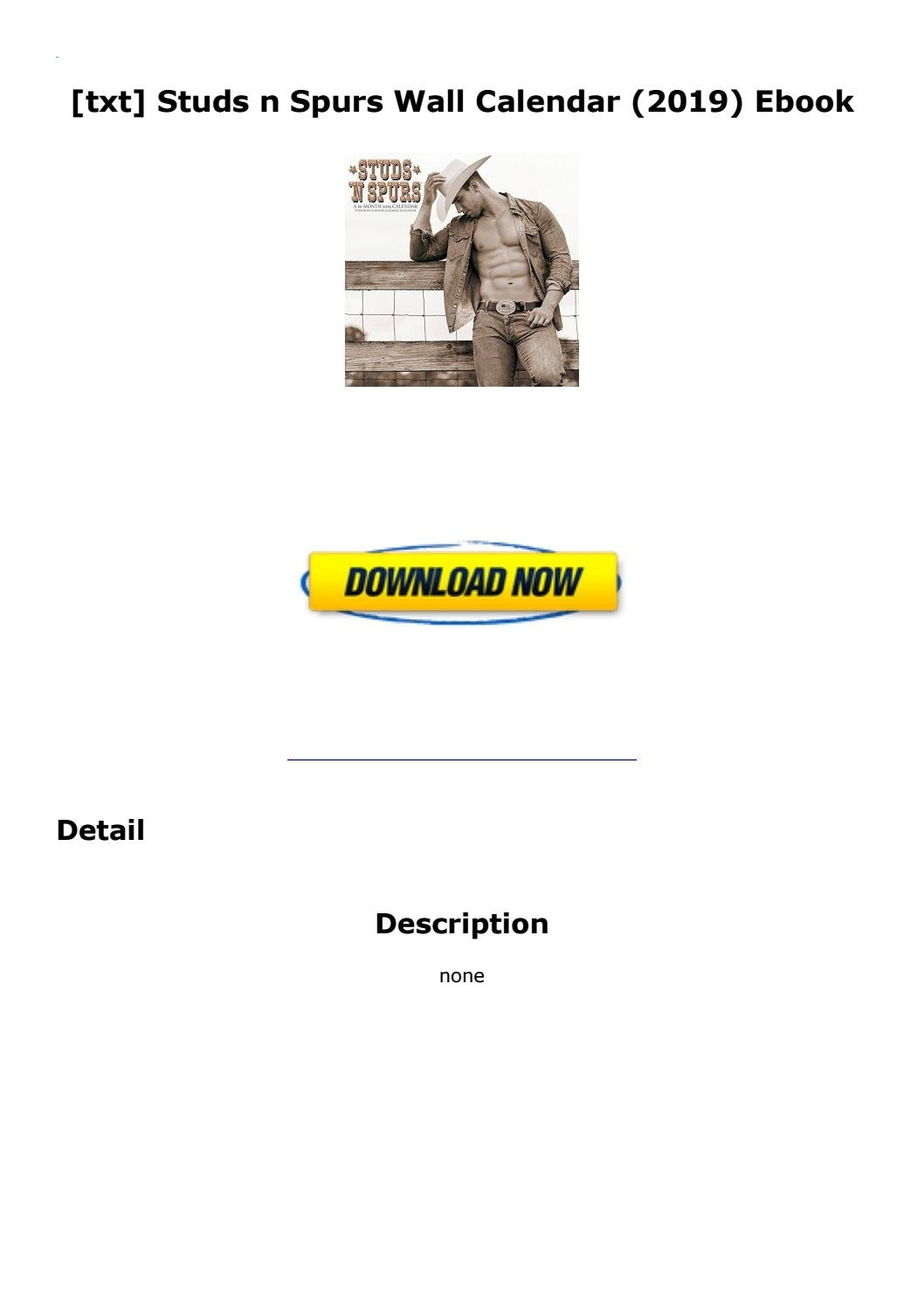 Txt] Studs N Spurs Wall Calendar (2019) Ebookemlpro437 – Issuu Studs N Spurs Calendar 2019