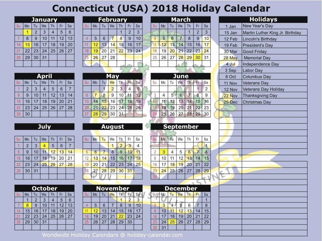 Uconn Academic Calendar 2018 2019 Connecticut Usa 2018 2019 Holiday Calendar 2019 Uconn
