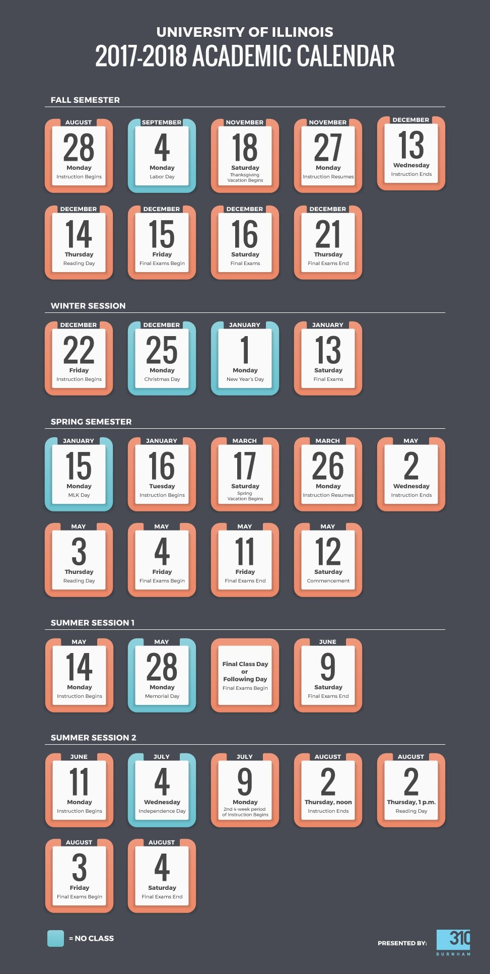 Uiuc Academic Calendar 2017 2018: School Schedule Infographic Calendar 2019 Uiuc