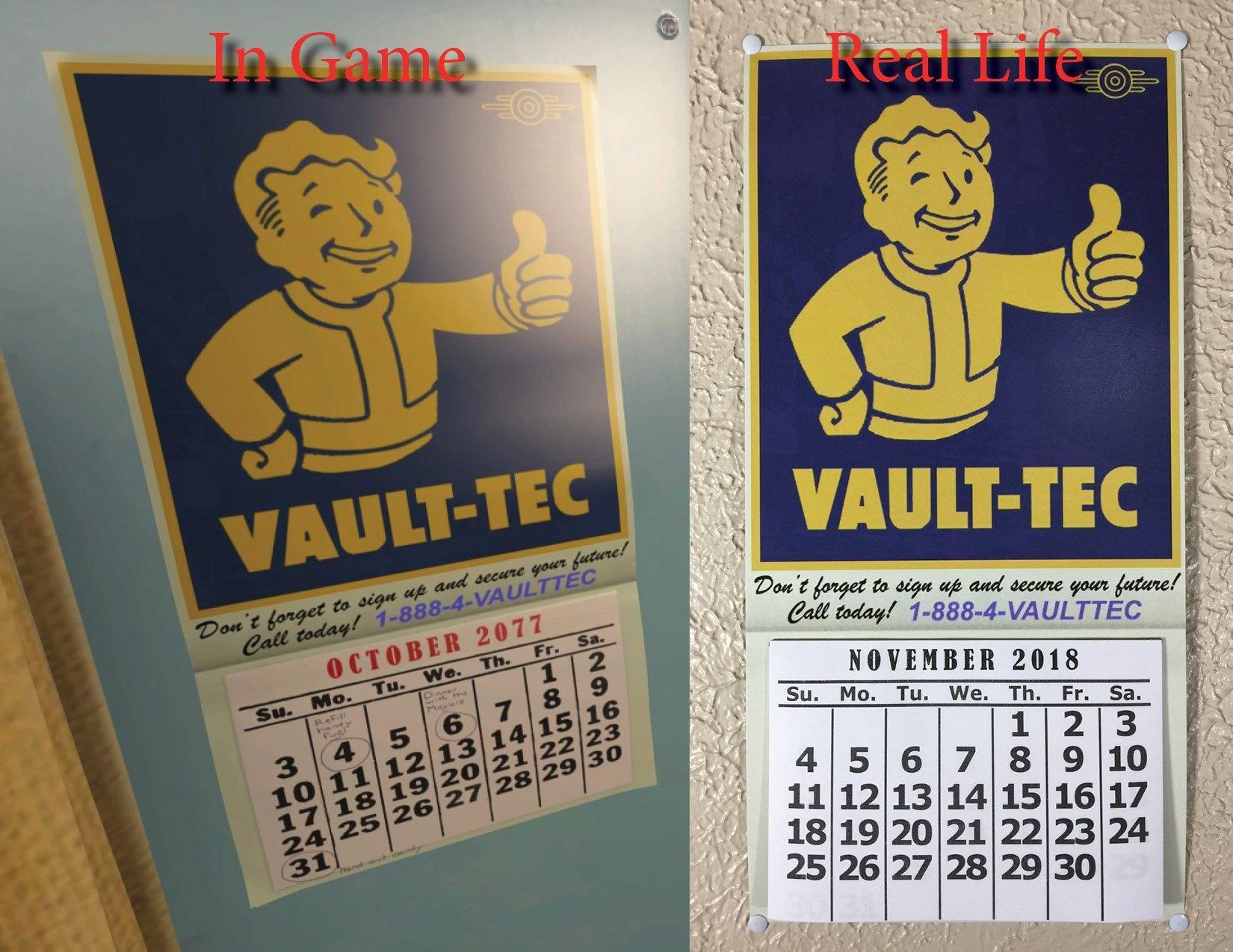 Un-Official Fallout 4/fallout 76 Calendar For 2019 | Etsy Fallout 4 Calendar 2019