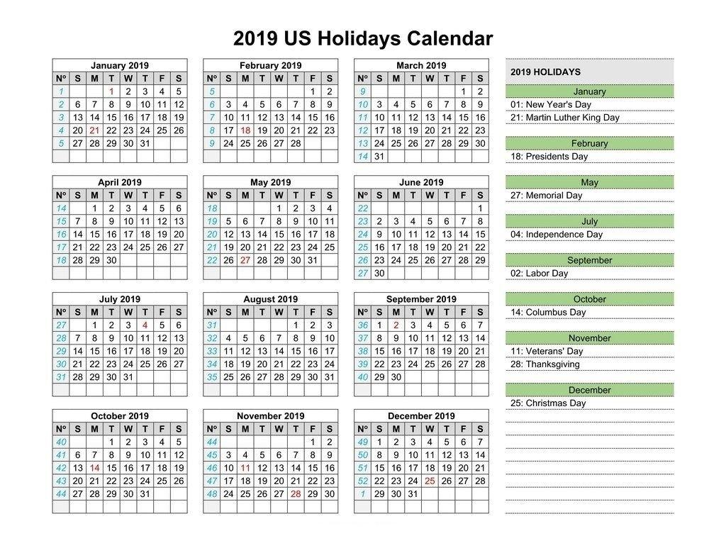 Usa Bank Holidays 2019 Calendar #calendar2019 #printablecalendar Calendar 2019 With Us Holidays