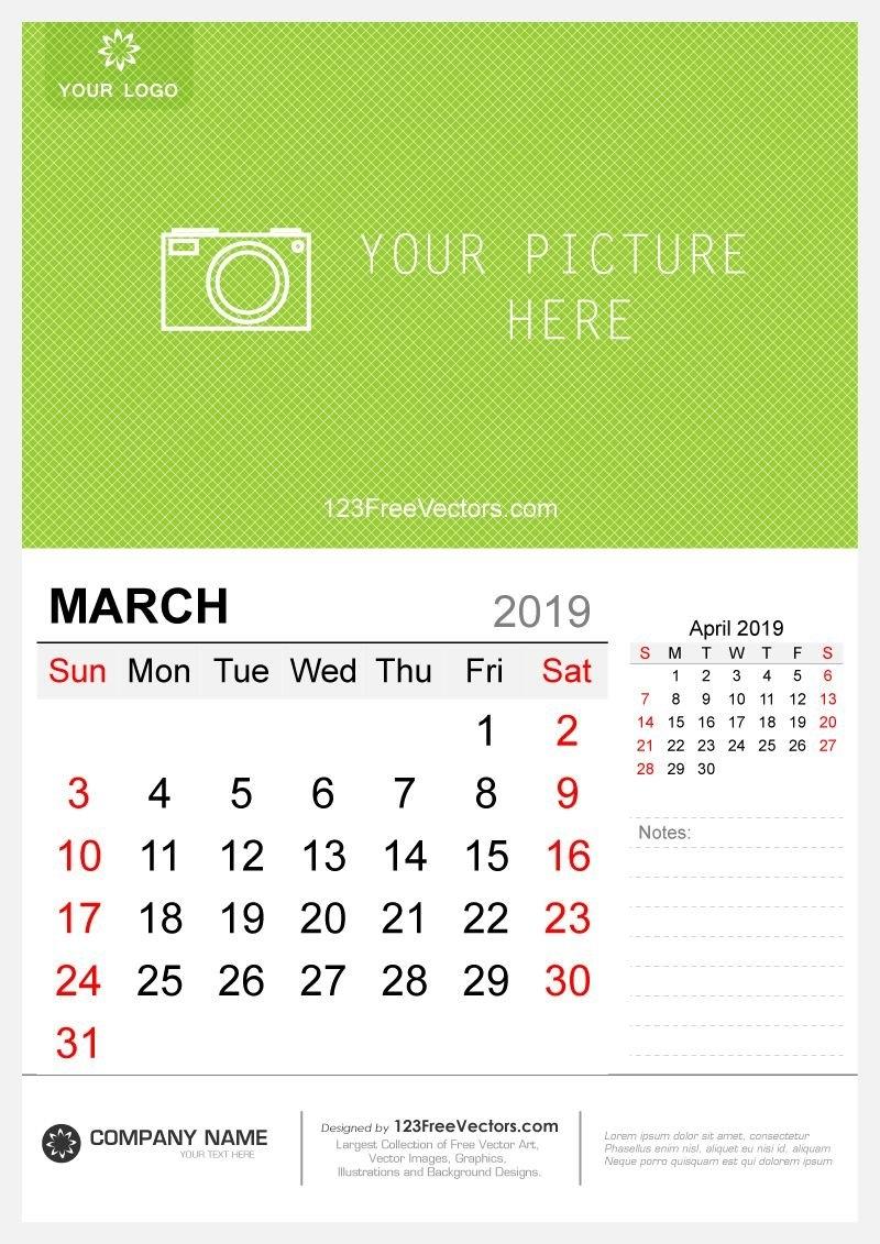 Wall Calendar March 2019   2019 Calendar   Pinterest   Calendar March 9 2019 Calendar