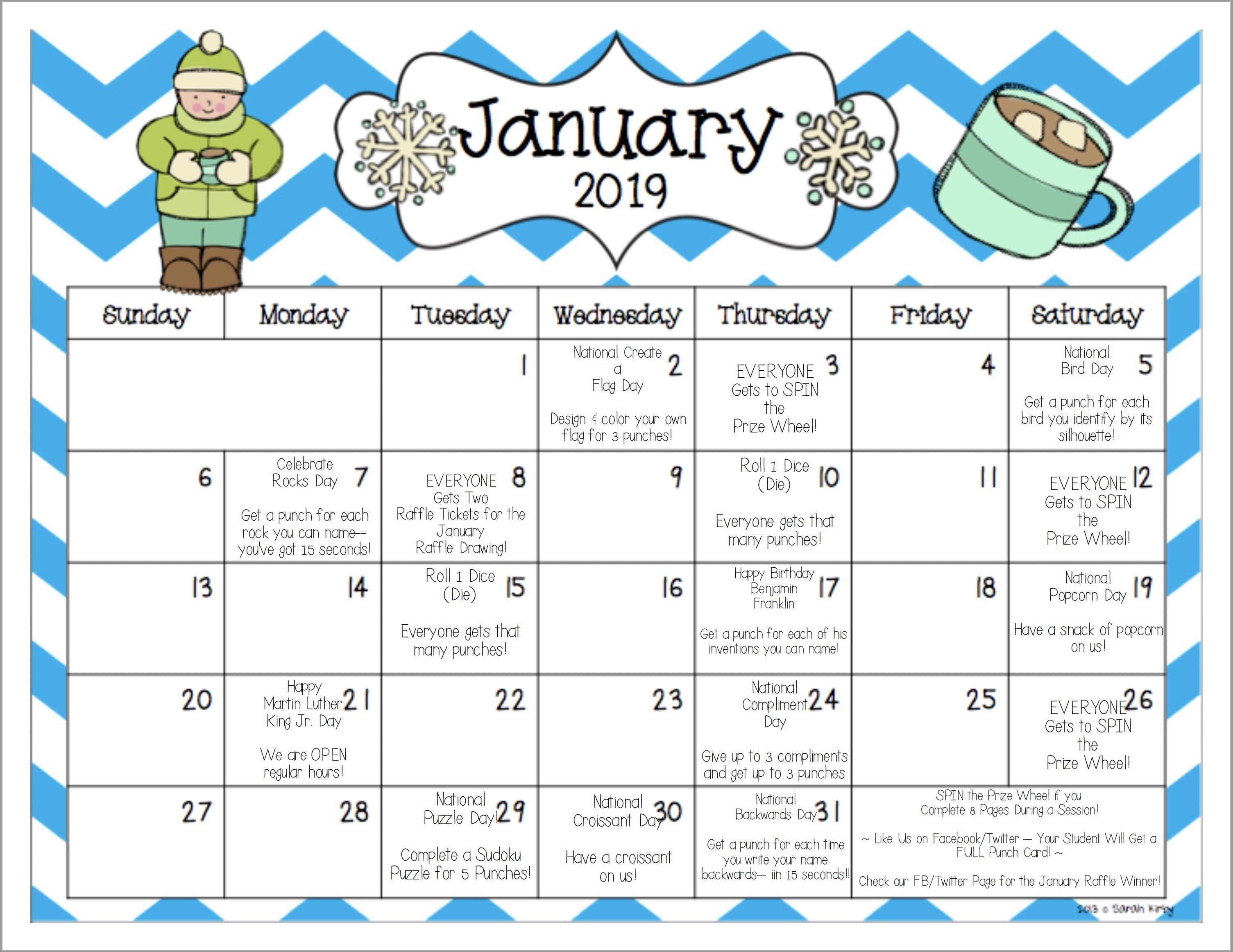 Www.mathnasium/january 2019 Fun Calendar   Mathnasium Rock N Roll Calendar 2019