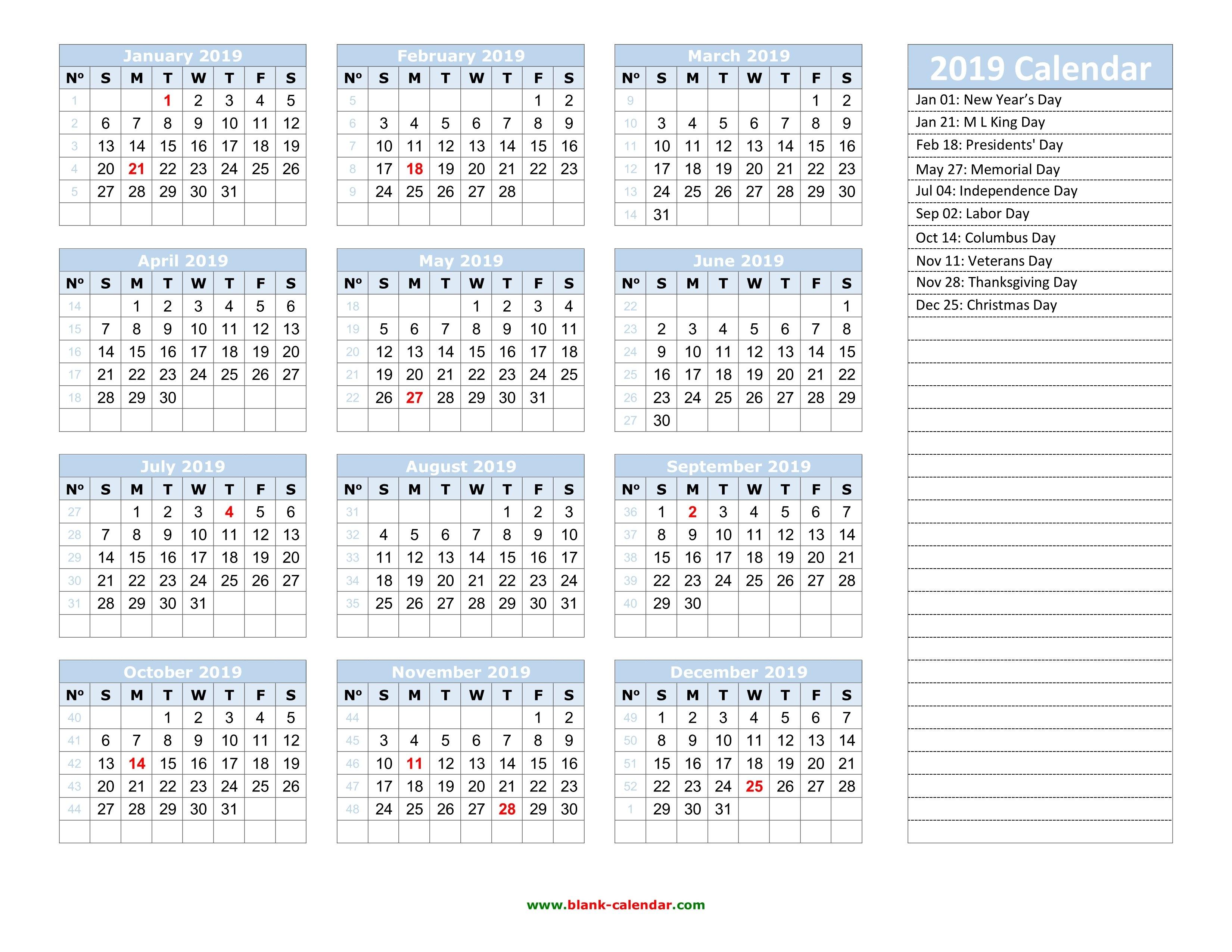 Yearly Calendar 2019 | Free Download And Print Calendar Week 50 2019