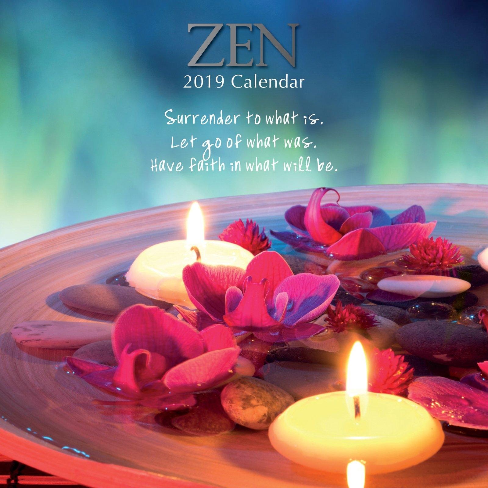 Zen – 2019 Wall Calendar 16 Month Premium Square 30X30Cm (N 2019 Calendar Zen