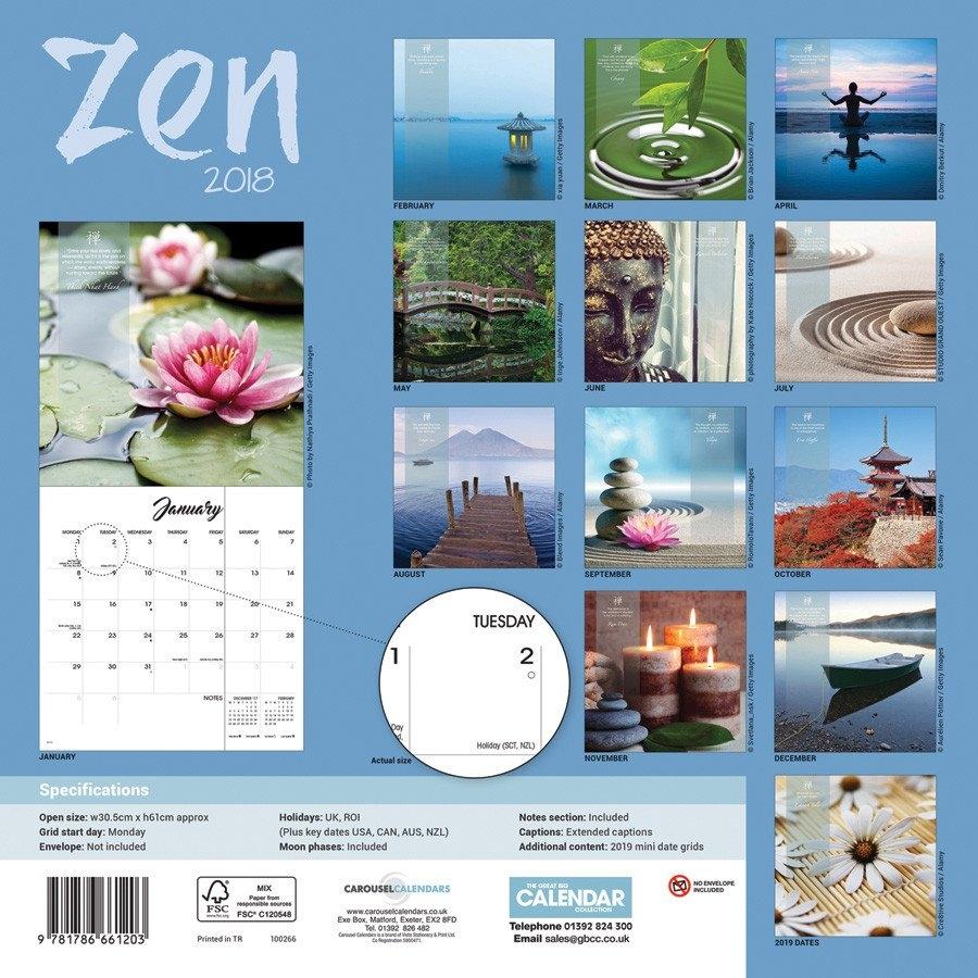 Zen – Calendars 2019 On Ukposters/abposters 2019 Calendar Zen