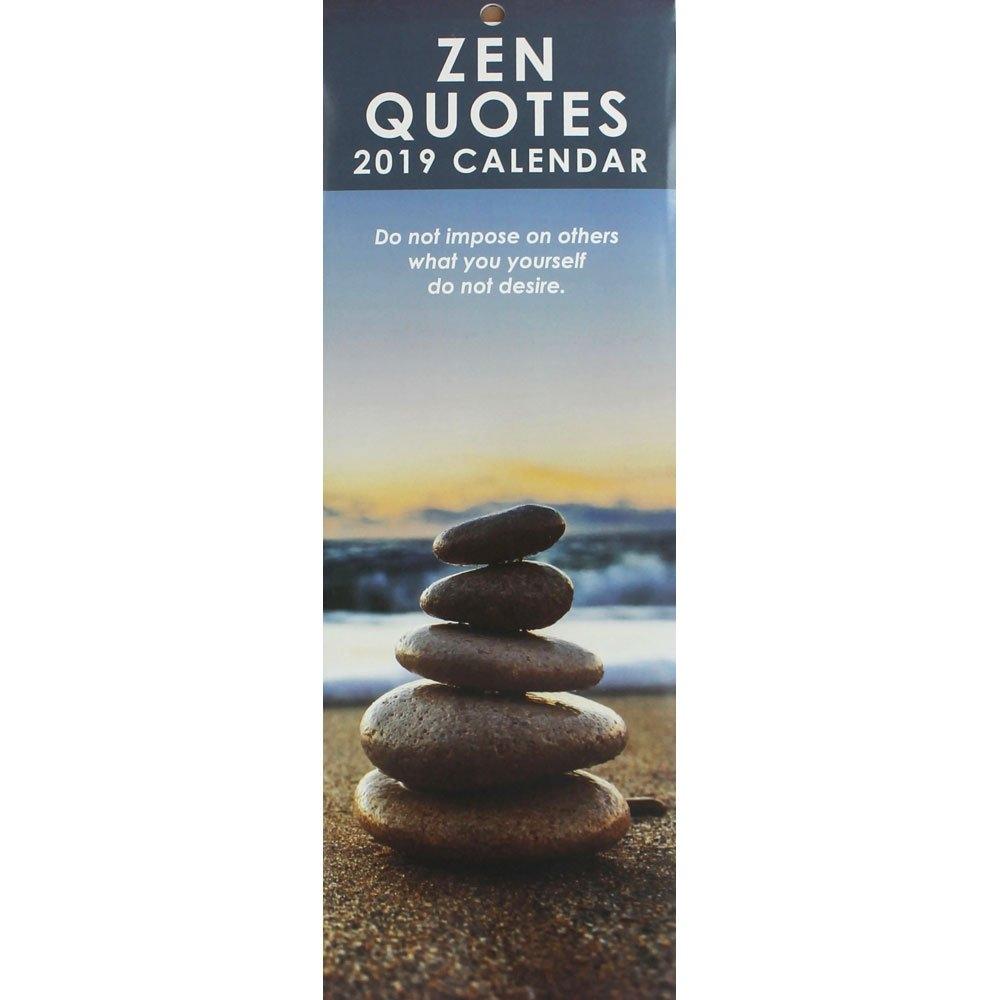 Zen Quotes Slim 2019 Calendar | 2019 Calendars At The Works 2019 Calendar Zen