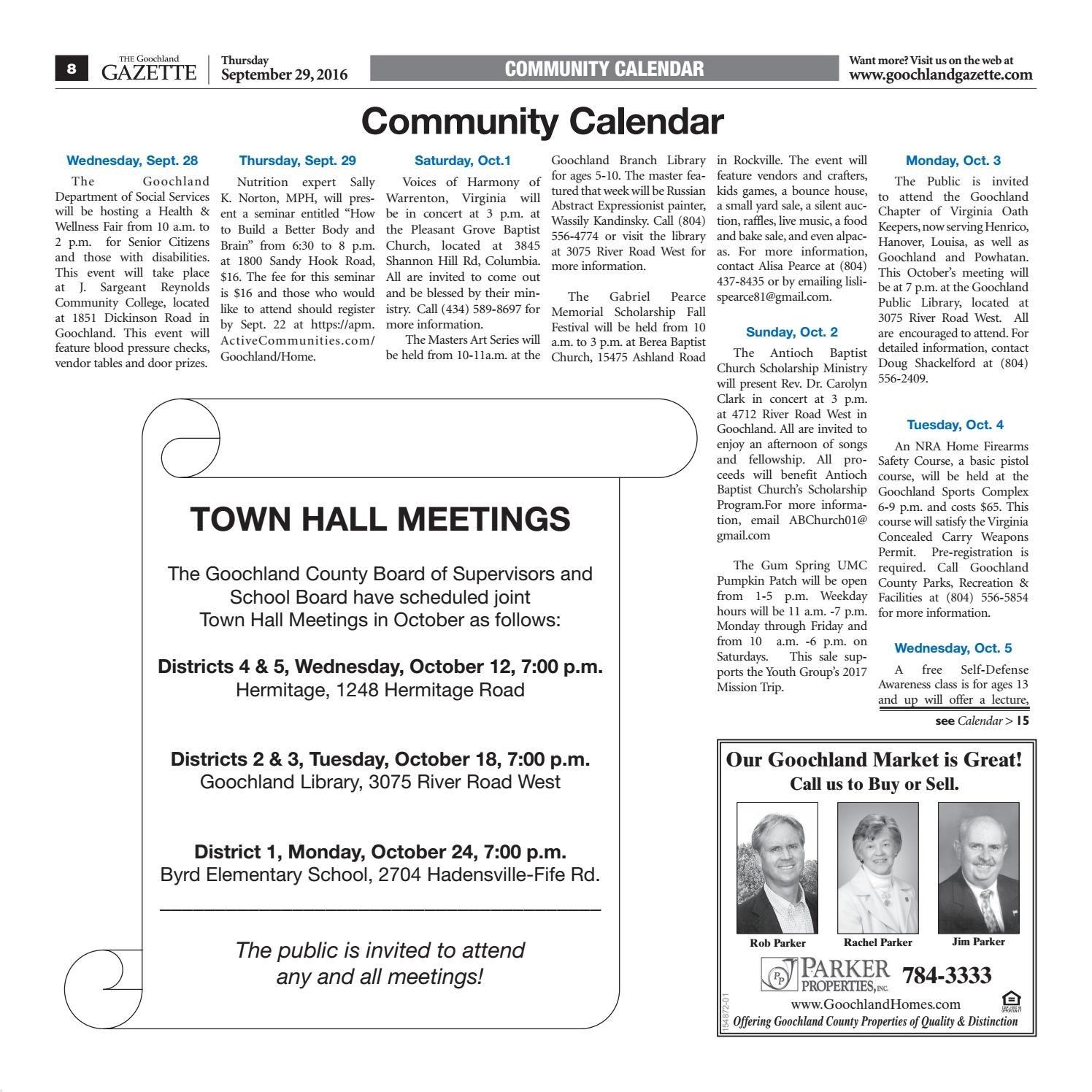 09/29/16Goochland Gazette – Issuu J Sargeant Reynolds Calendar 2019