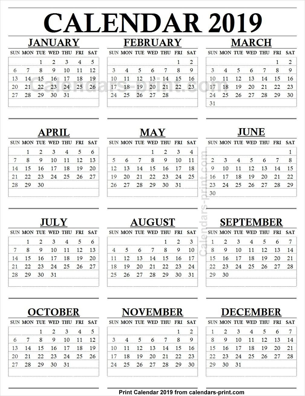 12 Month Calendar 2019 One Page   2019 Yearly Calendar   12 Month Calendar 2019 Liga Mx