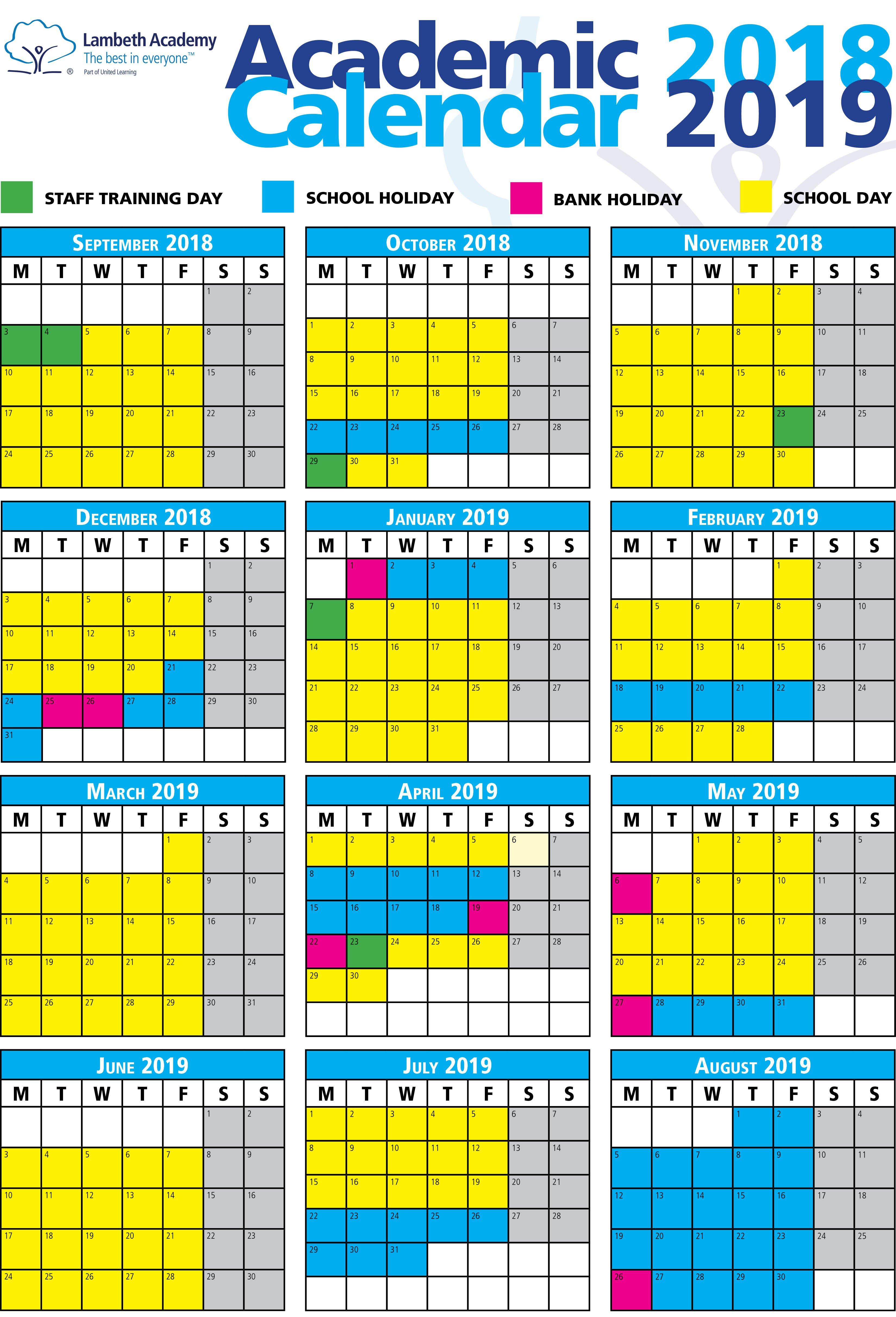 2019 17 School Calendar – Icard.cmi C U Of R Calendar 2019