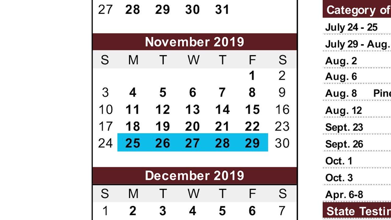 2019 2020 Academic Calendar Overview – Youtube M State Calendar 2019