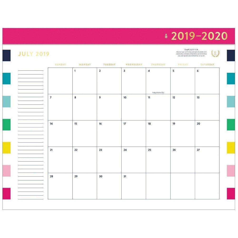 2019 2020 Happy Stripe Academic Desktop Calendar – Emily Ley In 2019 Calendar 2019 Target