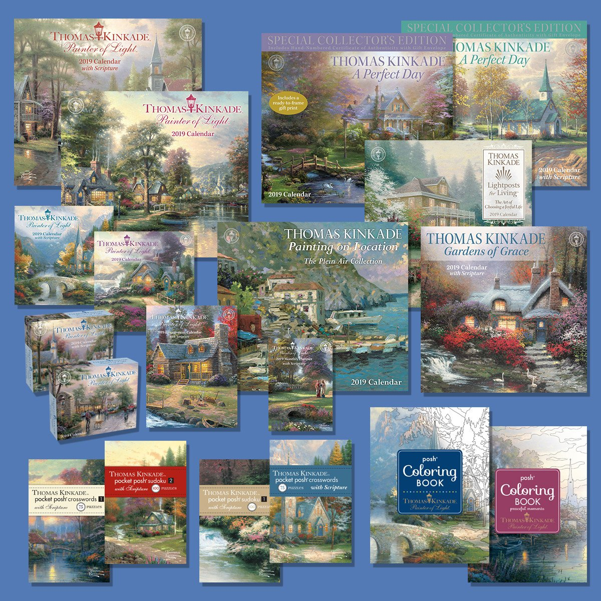 2019 Calendar Availability | Thomas Kinkade Studios Calendar 2019 Thomas Kinkade