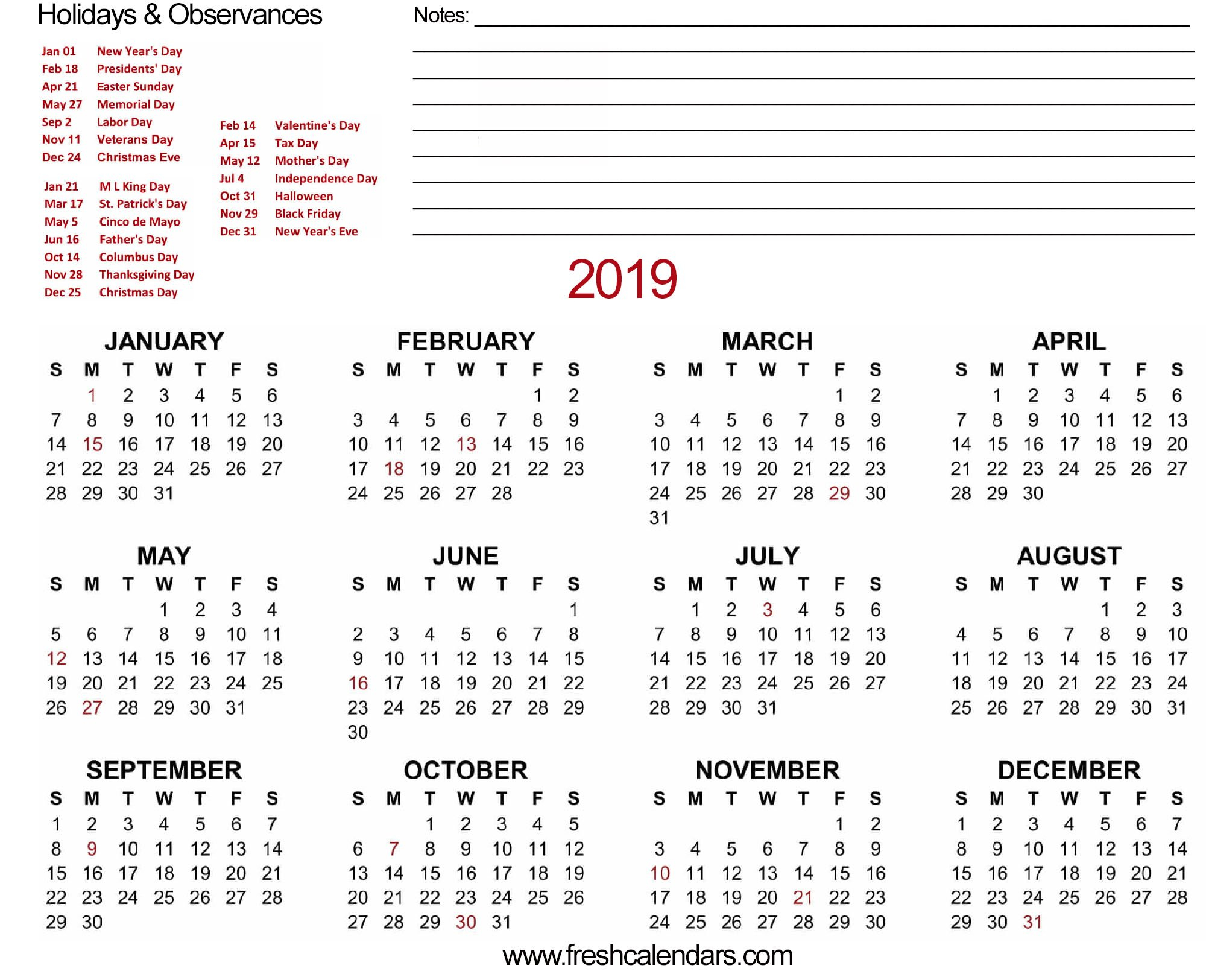 2019 Calendar Feb 7 2019 Calendar