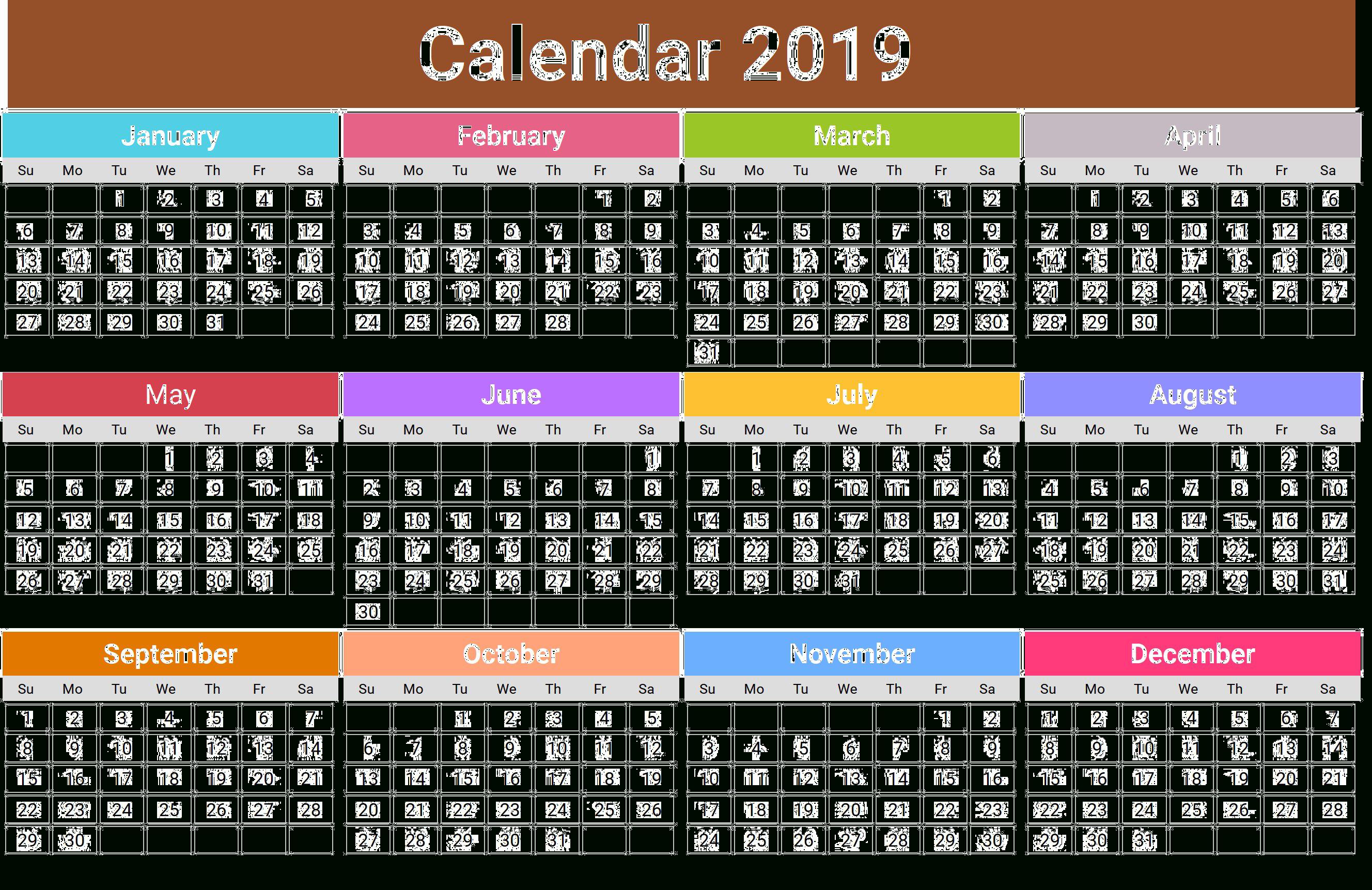 2019 Calendar Png Transparent Images   Png All Calendar 2019 Images