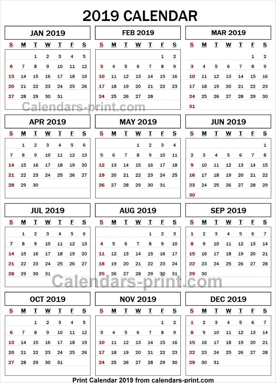 2019 Calendar Spreadsheet | 2019 Yearly Calendar | 2019 Calendar Calendar 2019 Spreadsheet