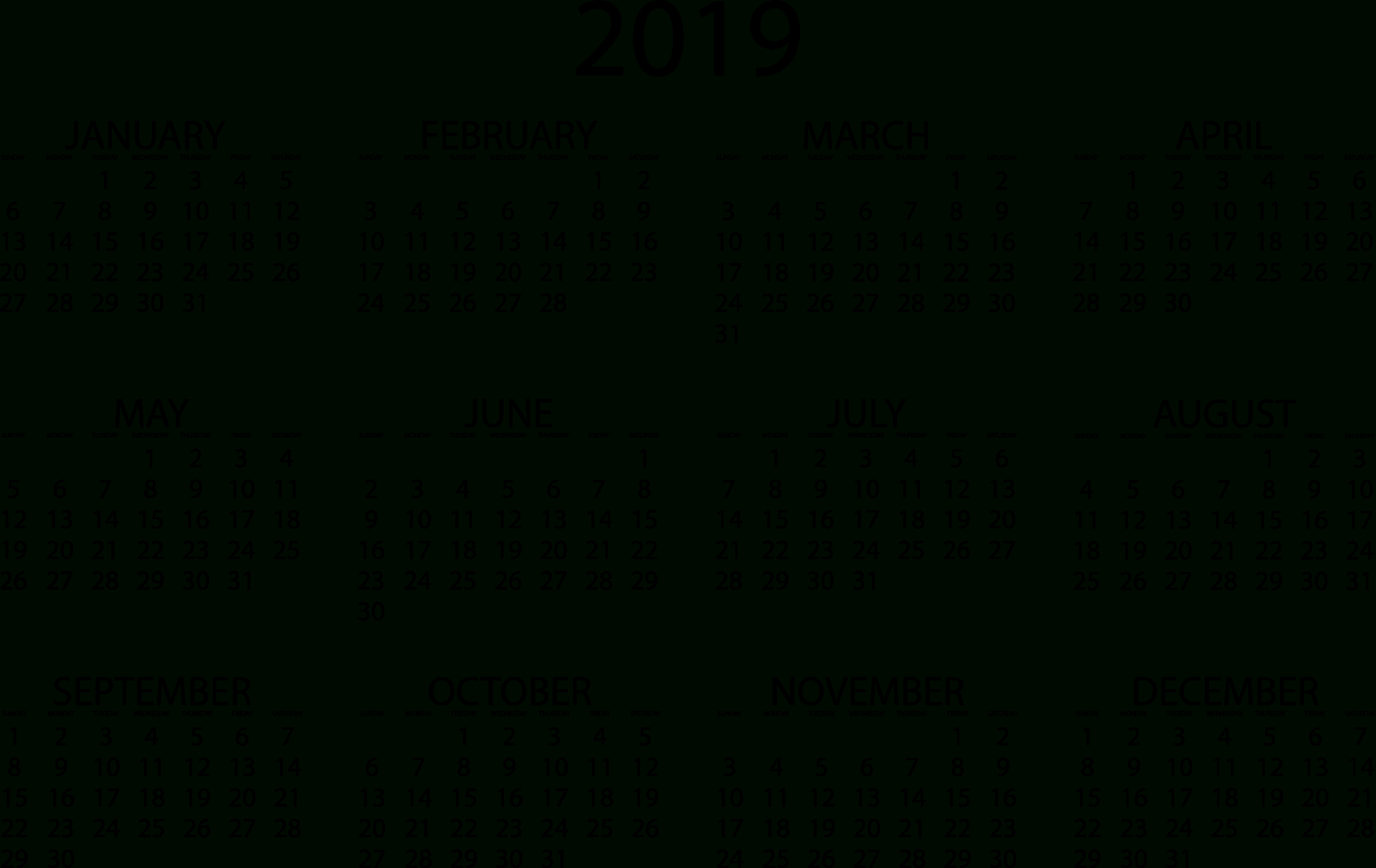 2019 Calendars – Download Printable Pdf Calendar Templates Calendar 2019 Download