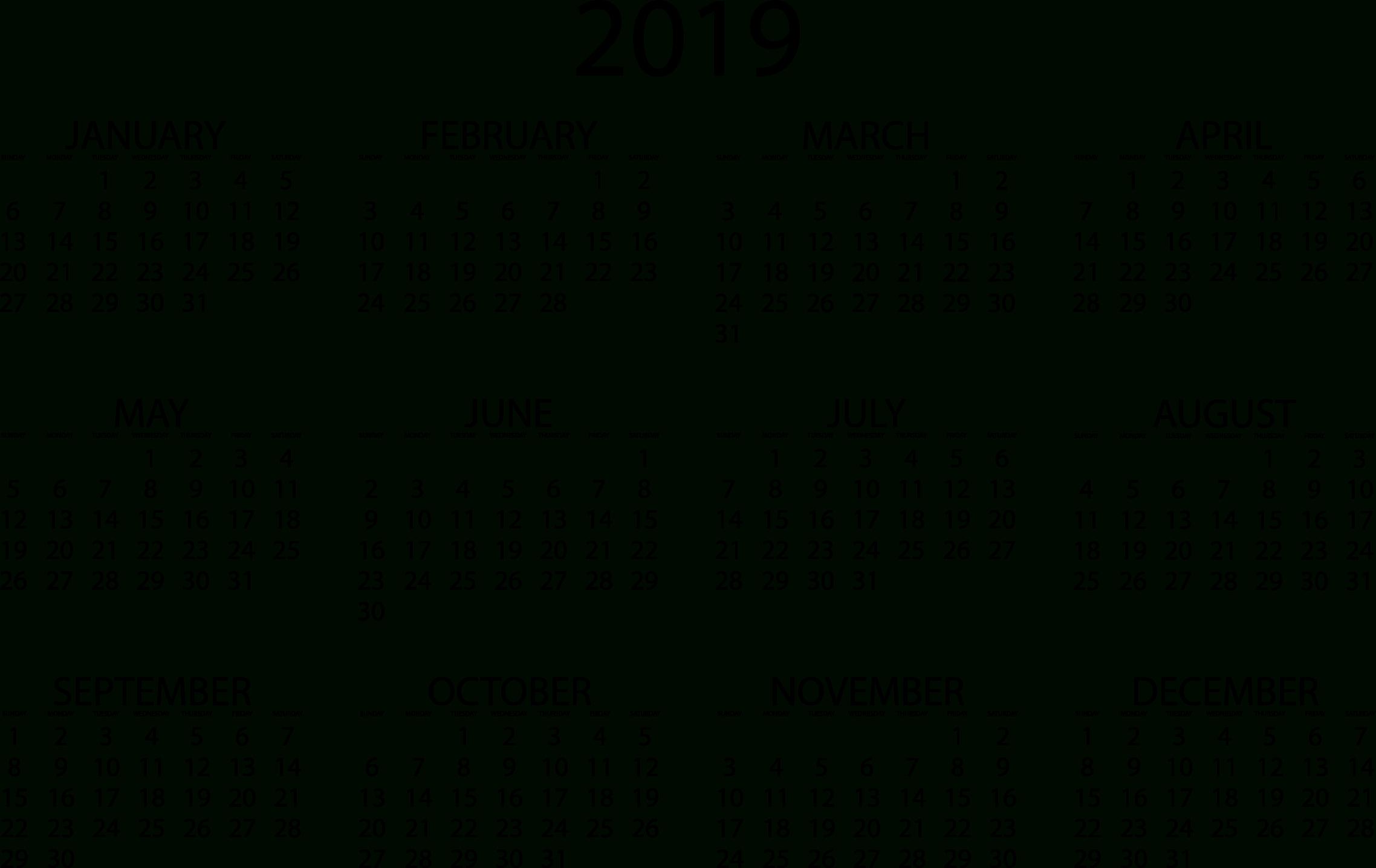 2019 Calendars – Download Printable Pdf Calendar Templates Calendar 2019 Template Pdf