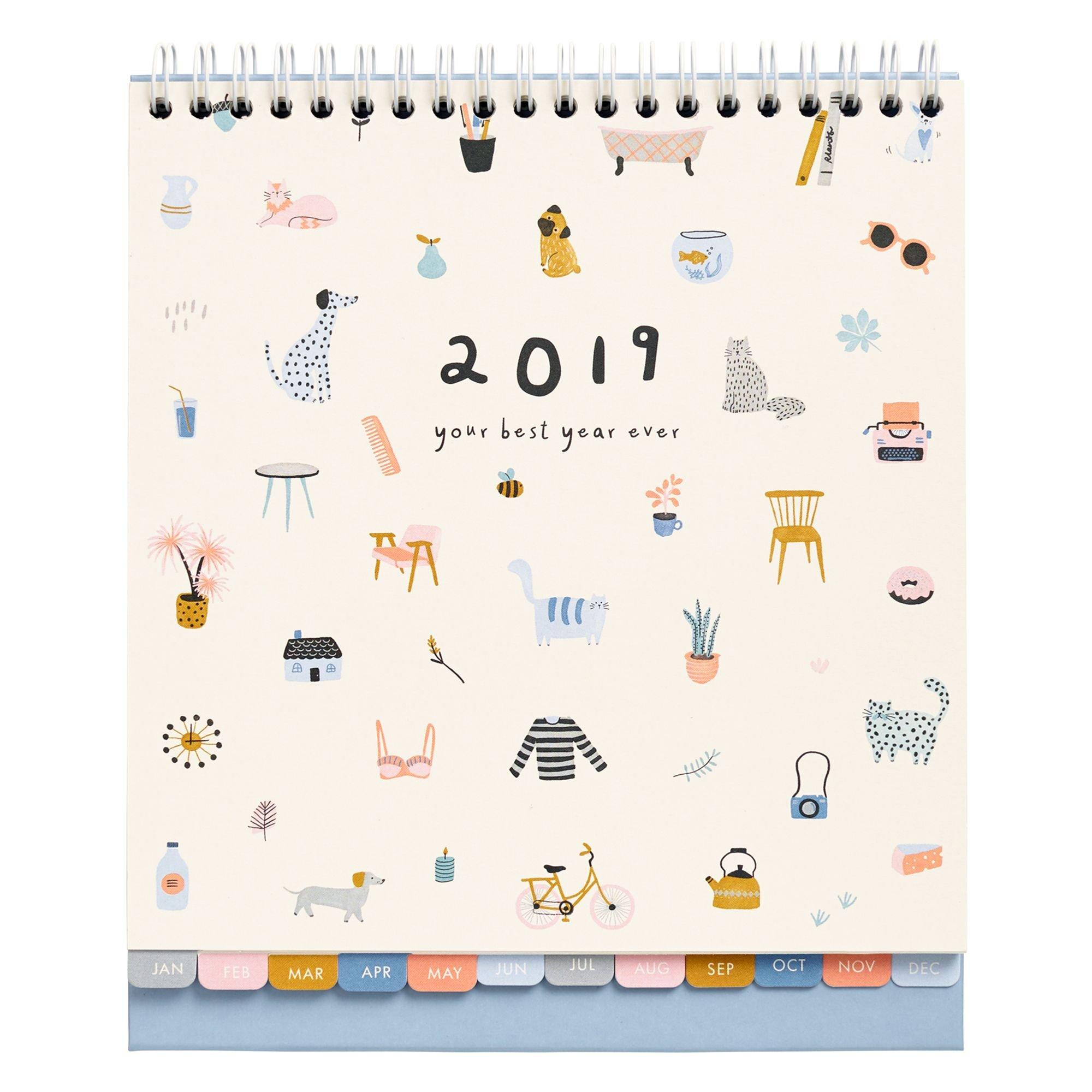 2019 Desk Calendar: Sweet | Library | Desk Calendars, Calendar Diary Kikki K Desk Calendar 2019