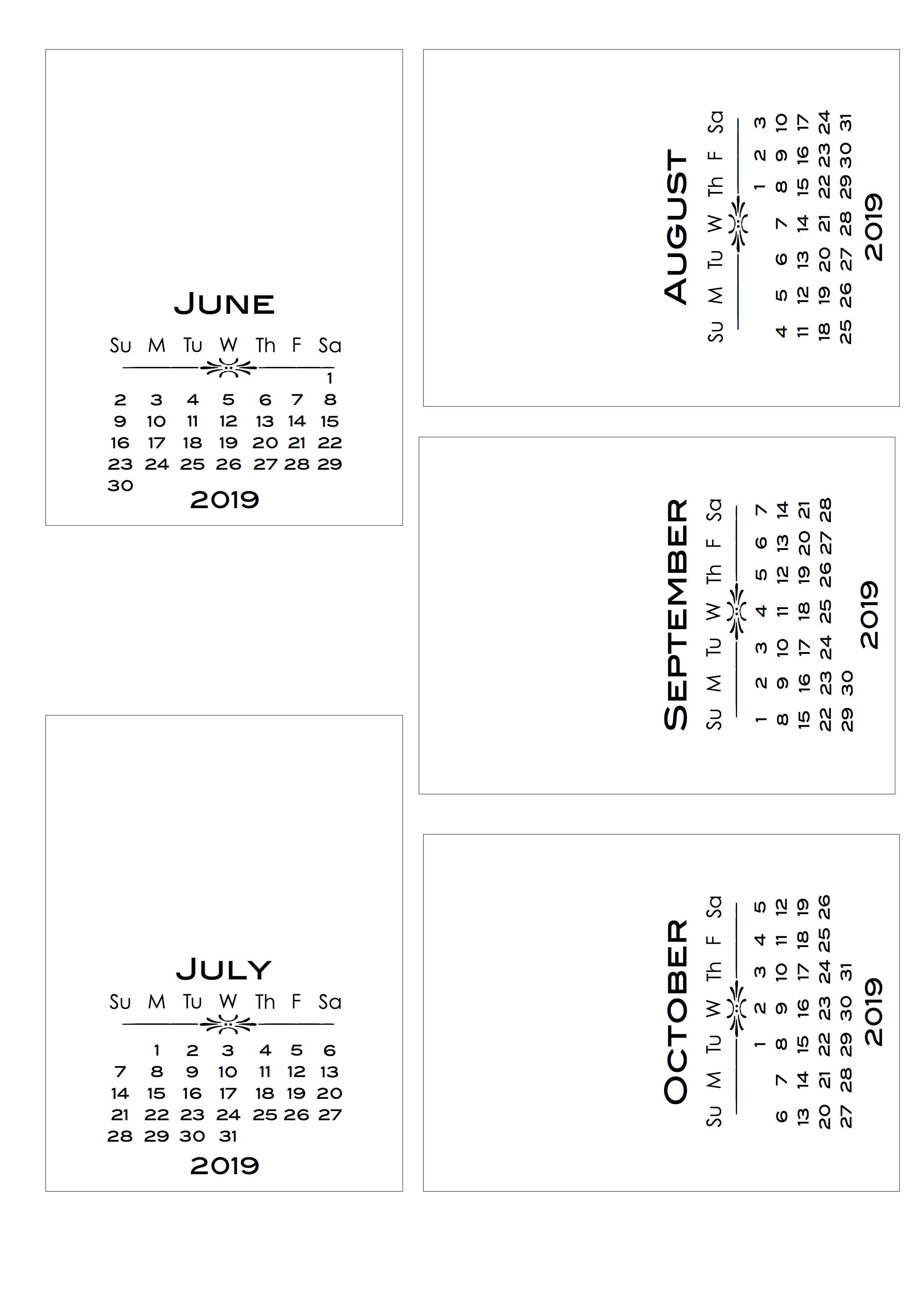 2019 Diy Calendar With Bold Text Pl Style Cards   Calendar   Diy Calendar 2019 Diy