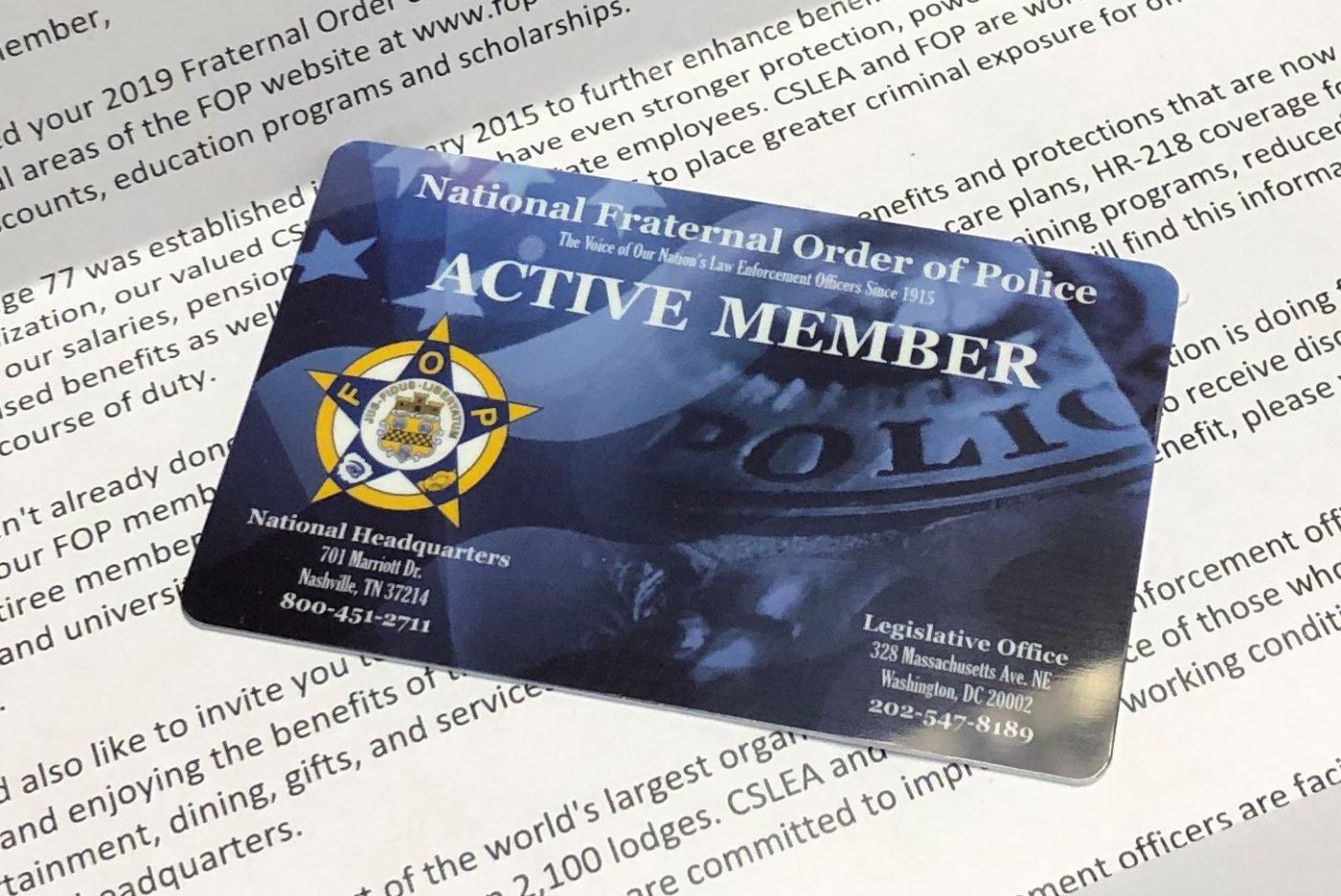 2019 Fop Membership Cards – California Statewide Law Enforcement Fop Lodge 7 Calendar 2019