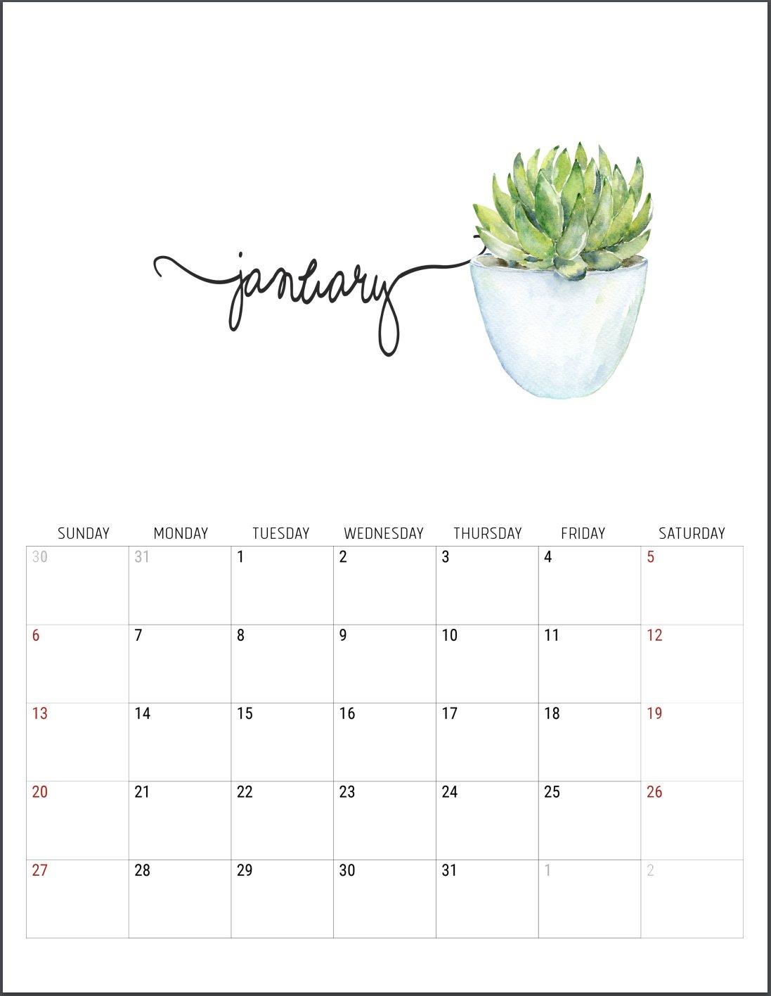 2019 Free Printable Calendars – Lolly Jane Calendar 2019 Free