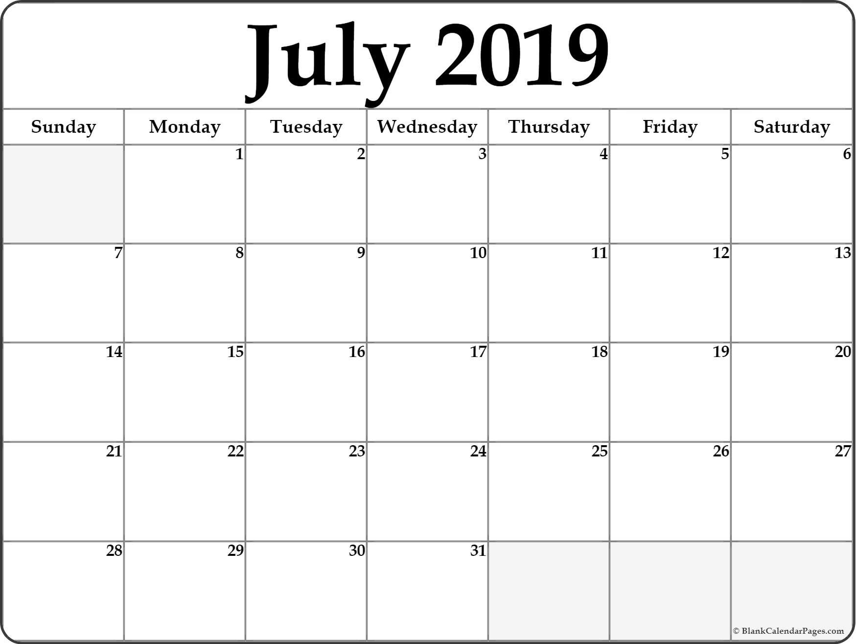 2019 July Printable Calendar – Icard.cmi C Calendar 2019 Monthly