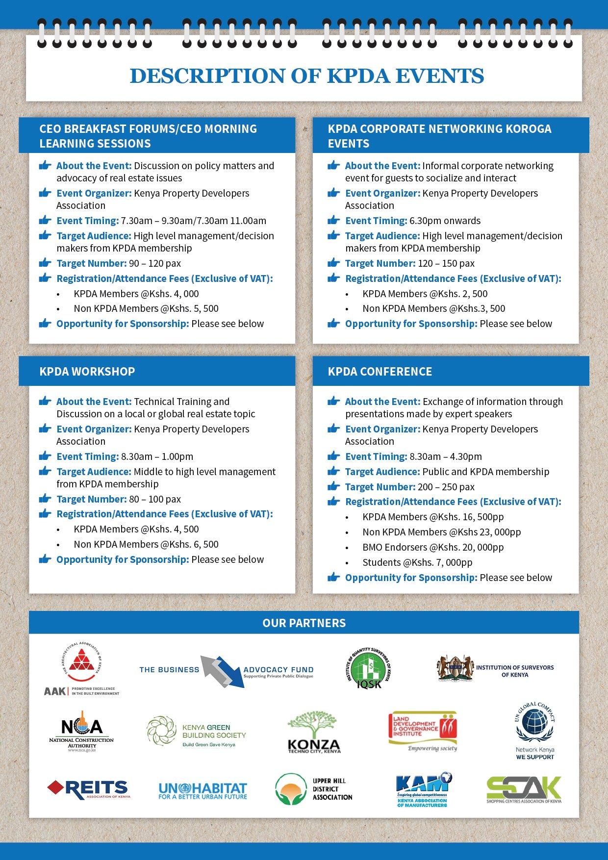 2019 Kpda Calendar Of Events – Kenya Property Developers Association Calendar 2019 At Target
