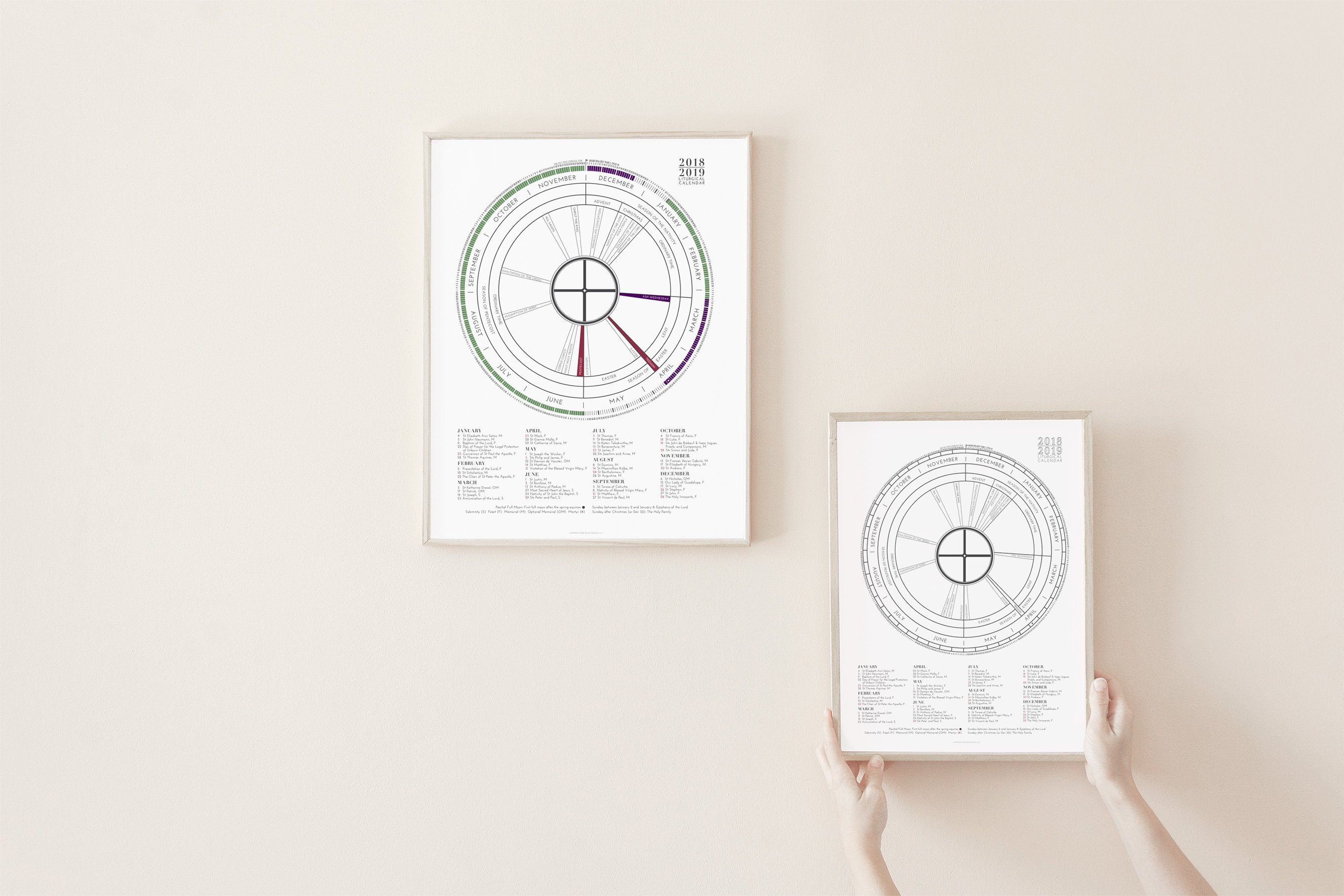 2019 Liturgical Calendar Bulk Pricing Gift For Baptism   Etsy Calendar 2019 Bulk