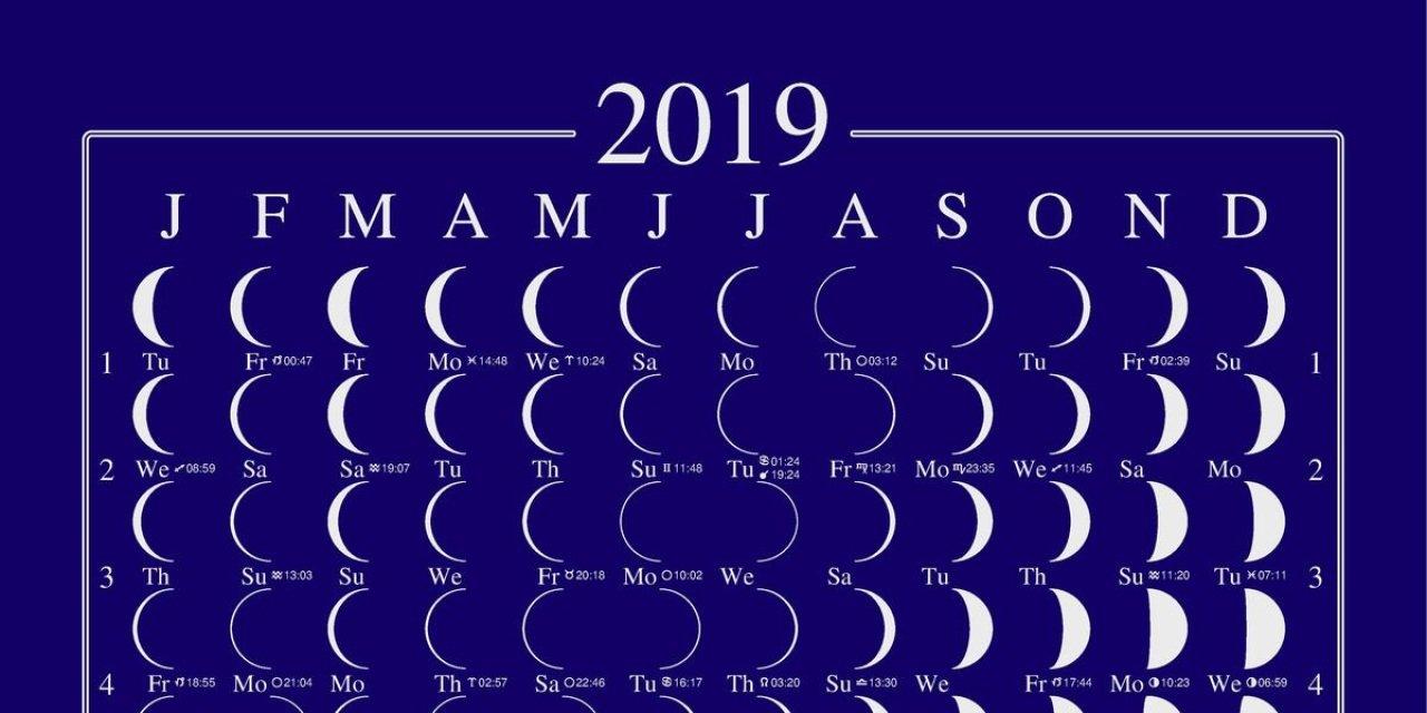 2019 Lunar Calendar Moon Calendar Llun Calendar Moonphase Calendar Calendar 2019 Lunar