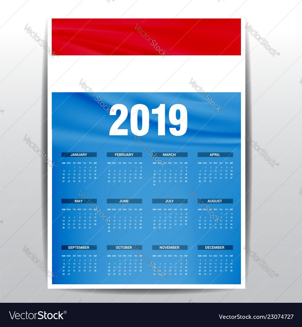 2019, Luxembourg & Happy Vector Images (23) Calendar 2019 Luxembourg
