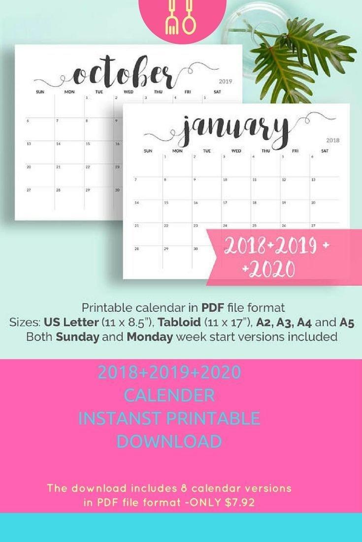2019 Printable Calendar 2019 2020 Calendar Printable Large Calendar Calendar 2019 Near Me