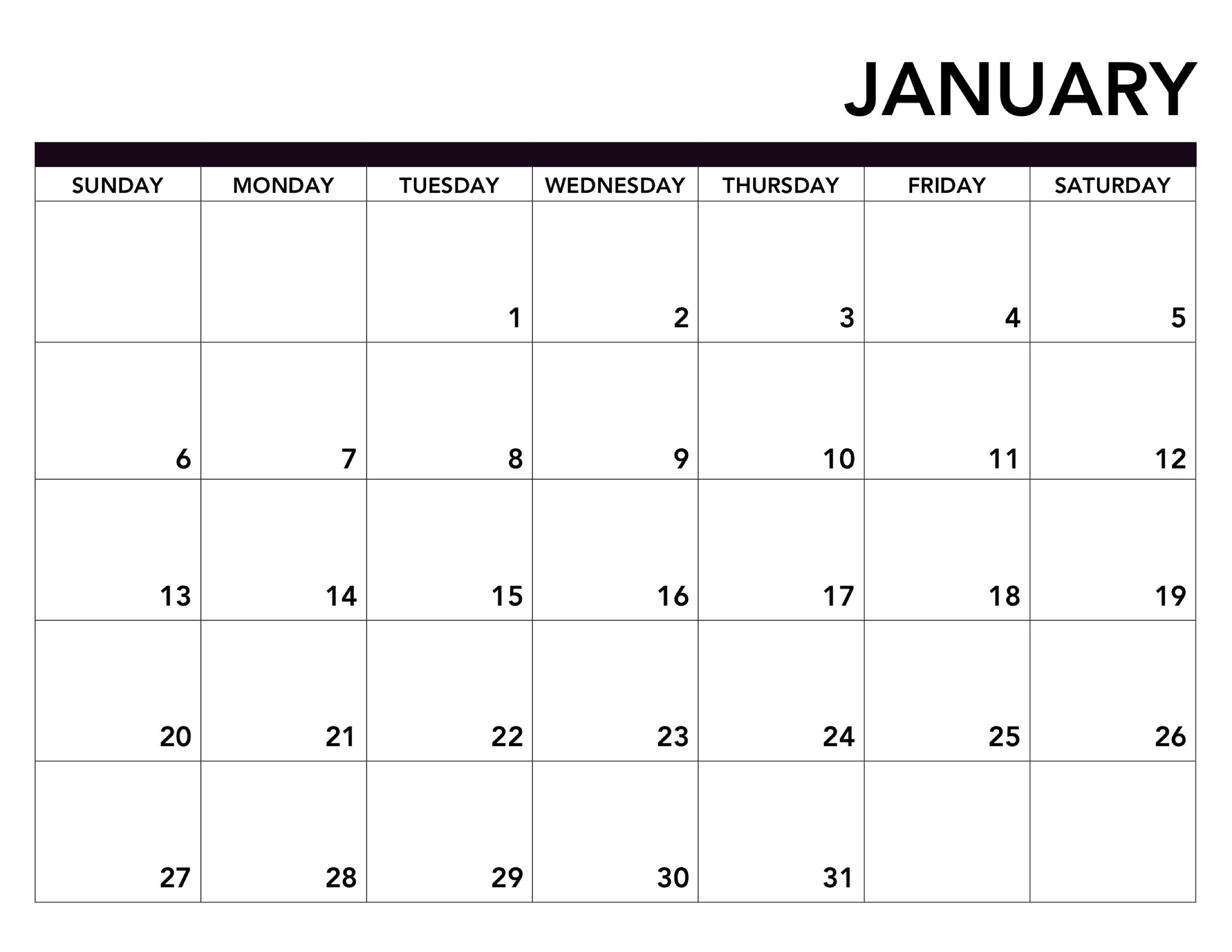 2019 Printable Calendar Free Pages – Paper Trail Design Calendar 2019 Pages