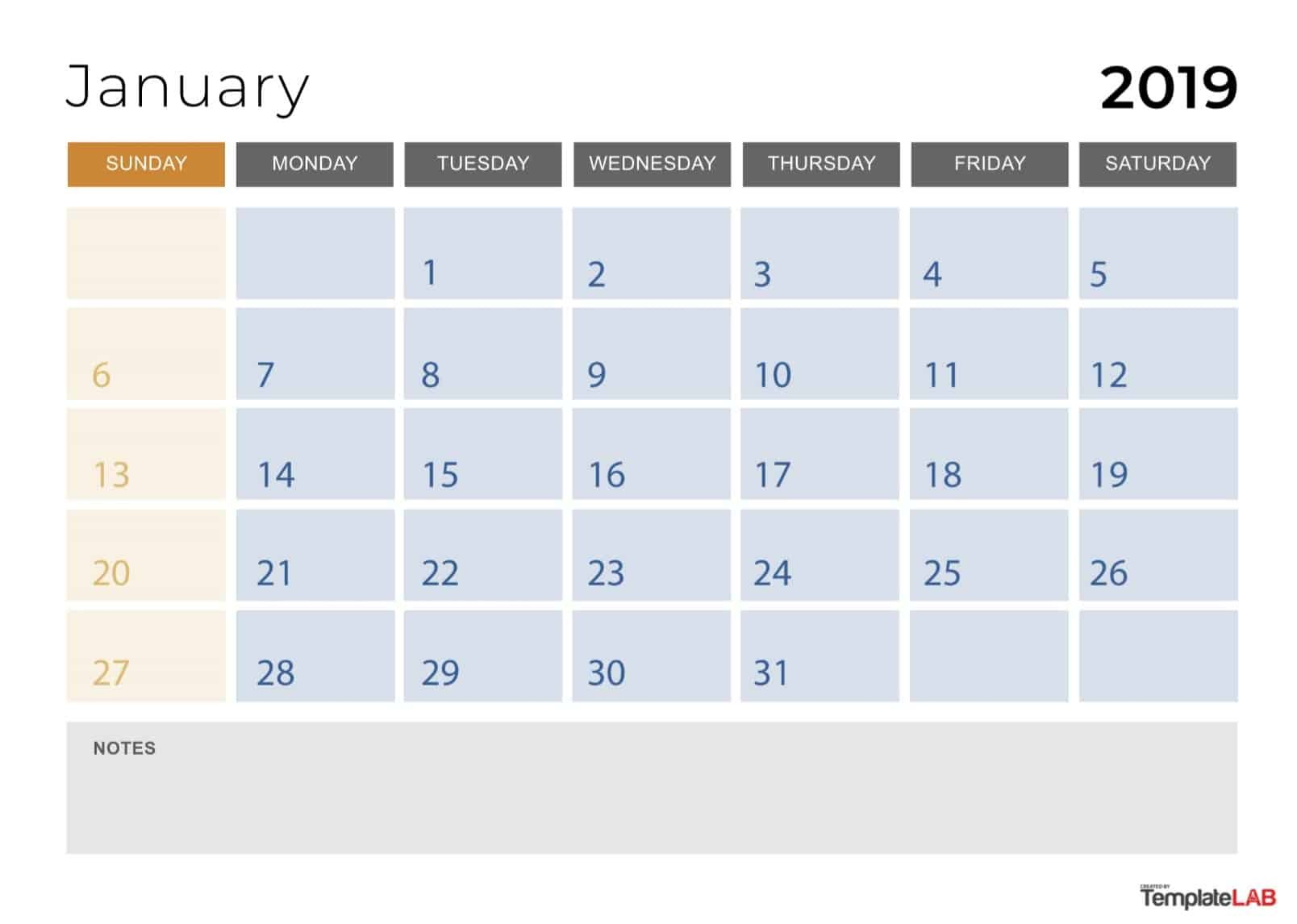 2019 Printable Calendars [Monthly, With Holidays, Yearly] ᐅ Calendar 2019 Monthly